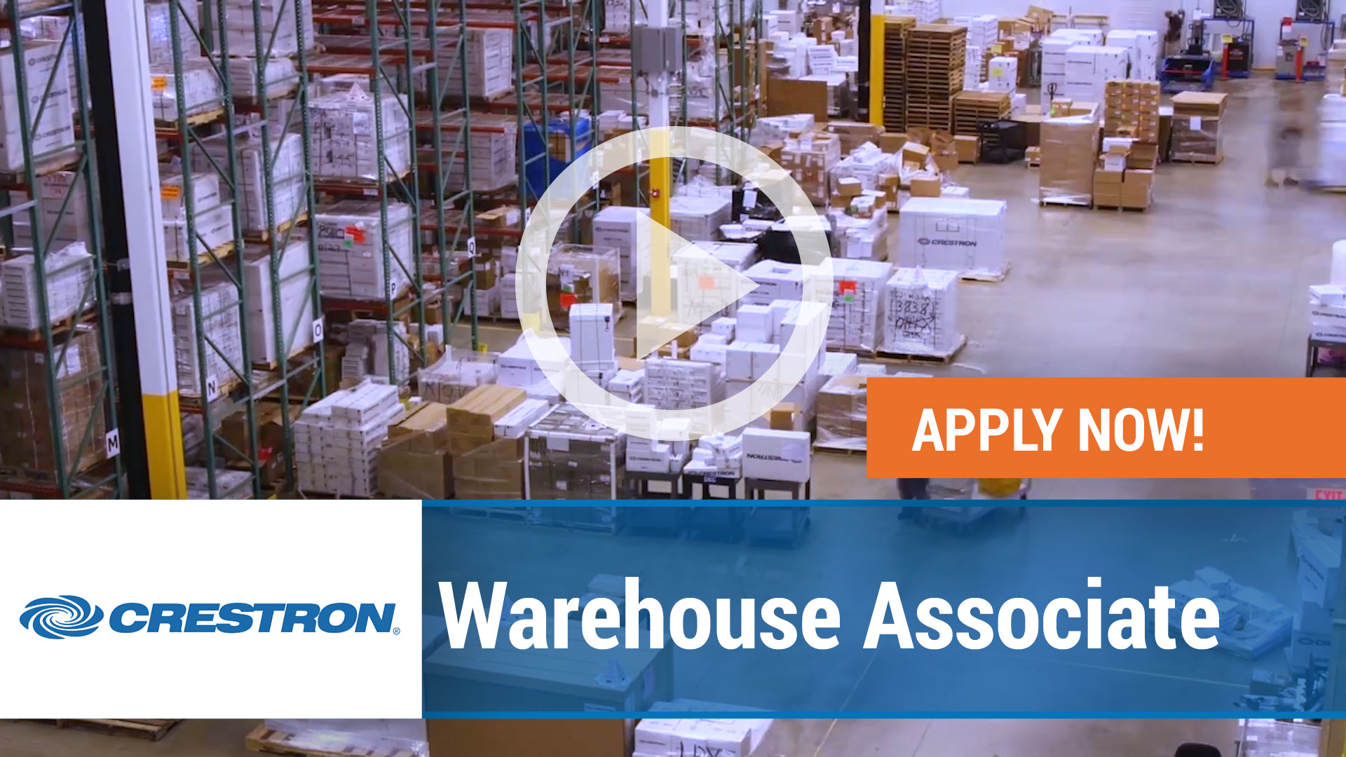 Watch our careers video for available job opening Warehouse Associate in Orangeburg, NY, USA