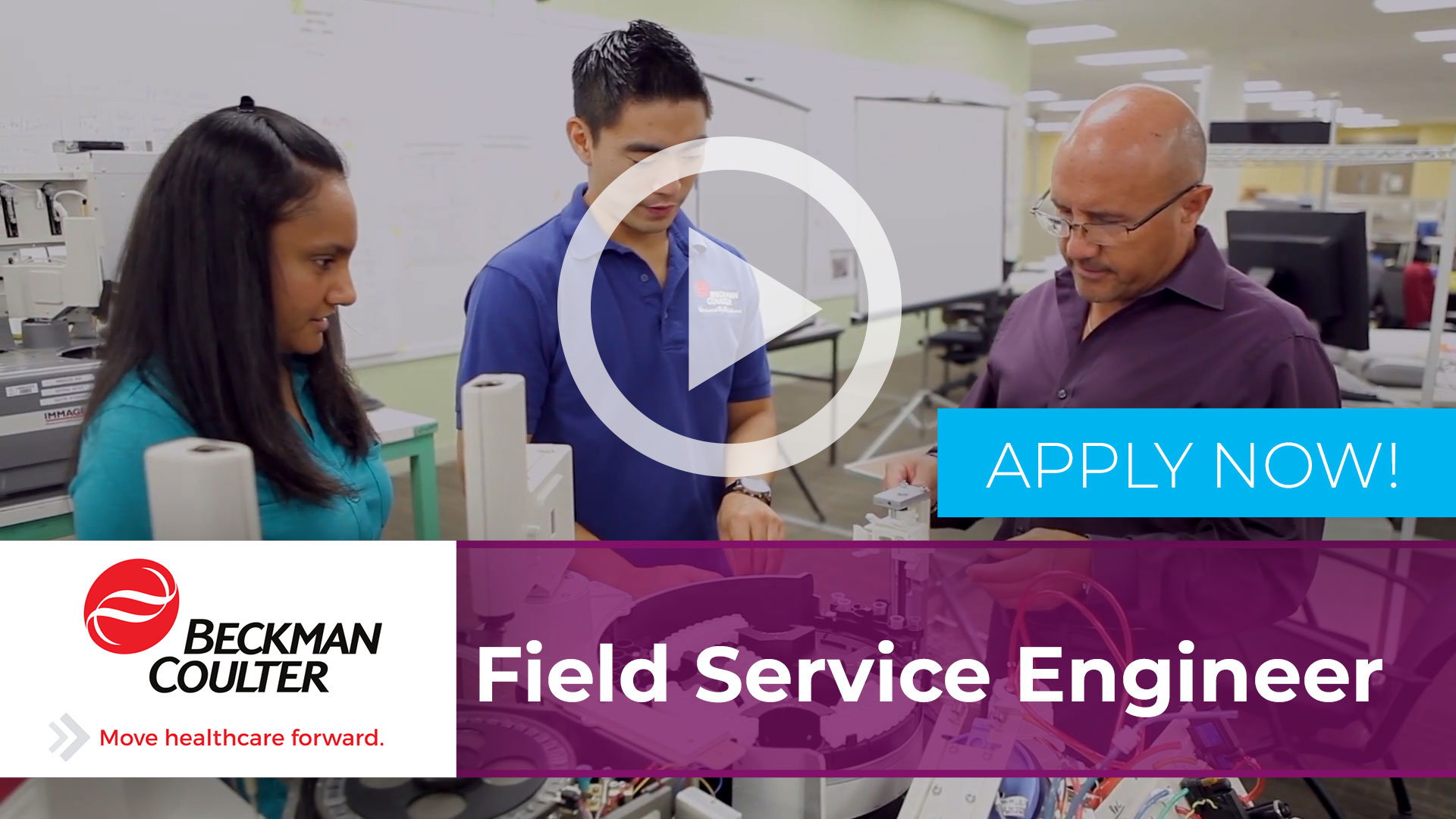 Watch our careers video for available job opening Field Service Engineer in Chicago, IL.  USA