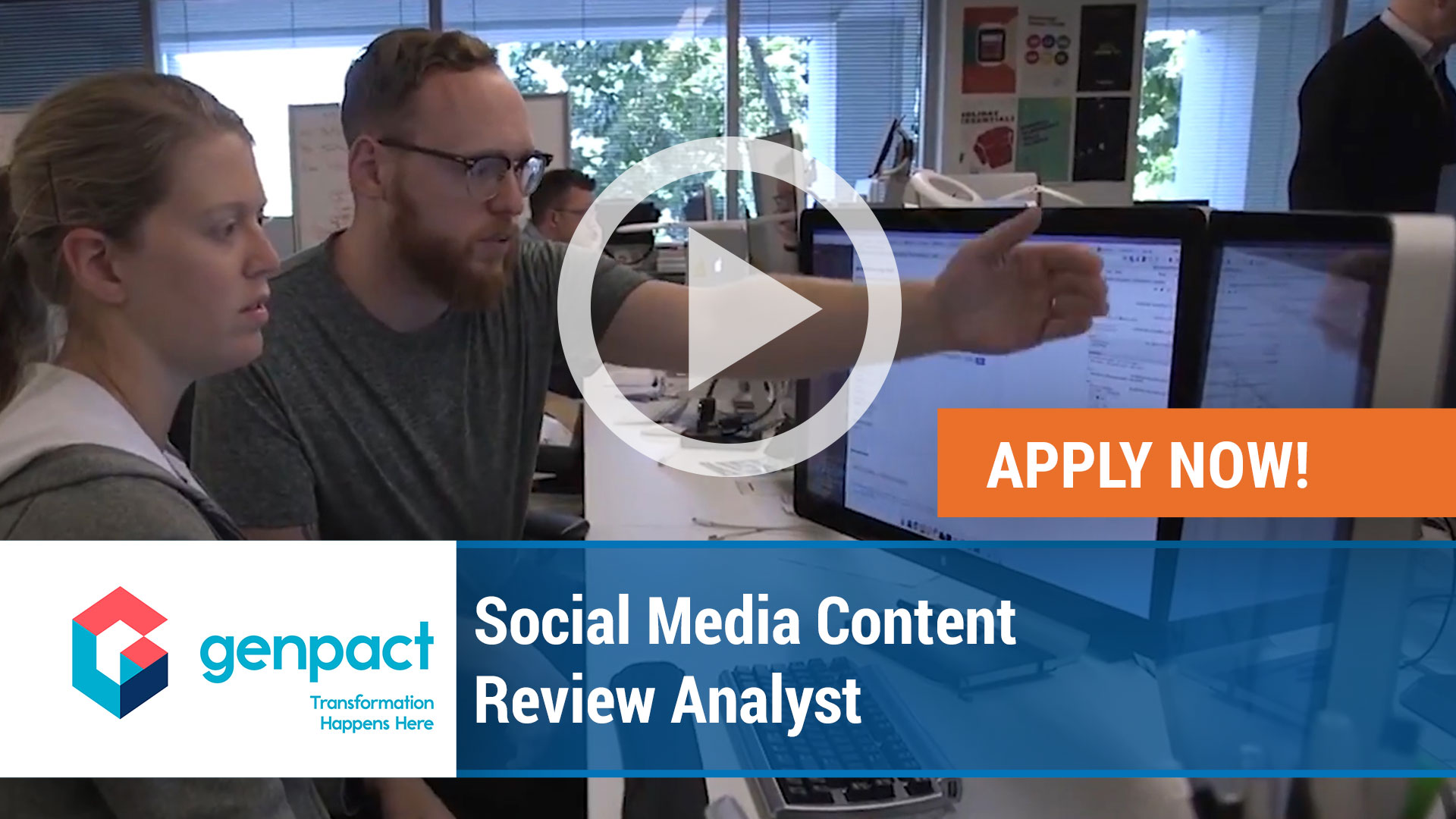 Watch our careers video for available job opening Social Media Content Review Analyst in Richardson, Texas