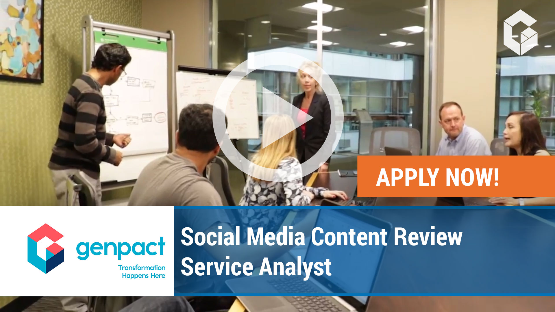 Watch our careers video for available job opening Social Media Content Review Service Analyst in Jacksonville, Florida