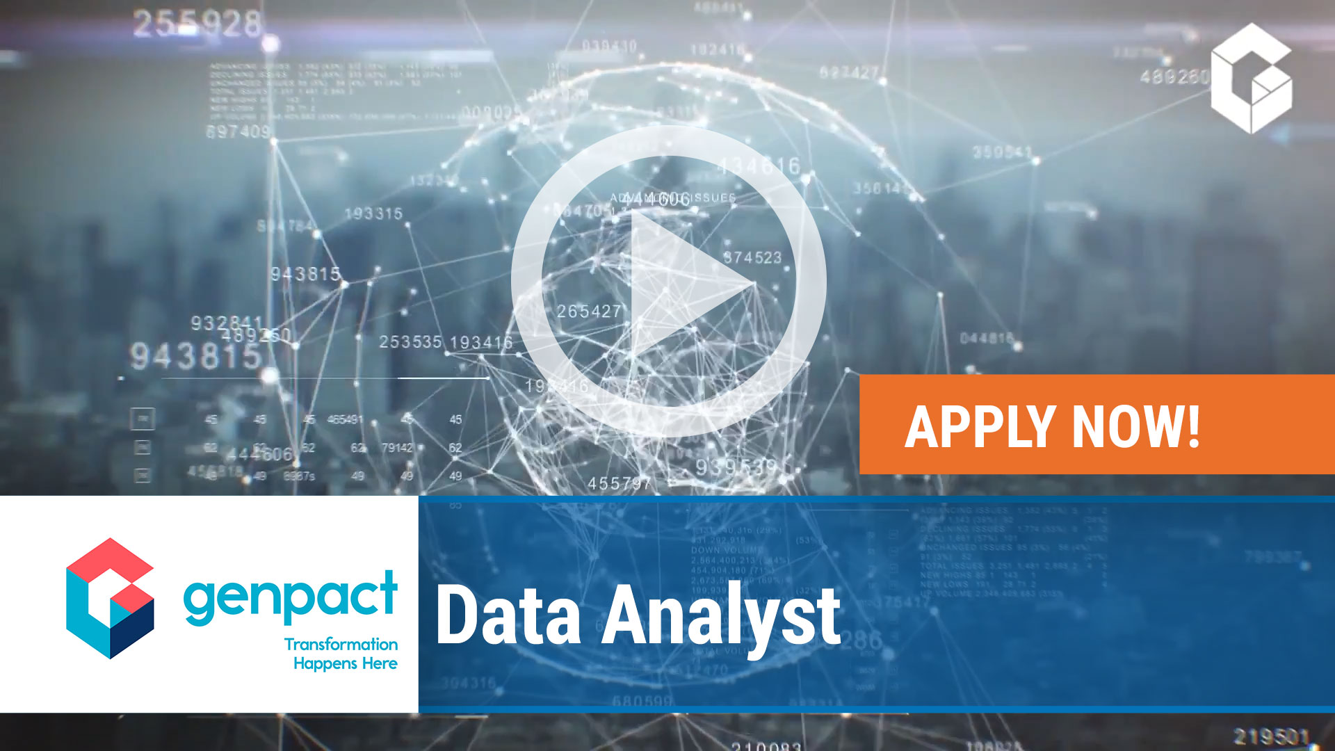 Watch our careers video for available job opening Data Analyst in Cincinnati, OH, USA