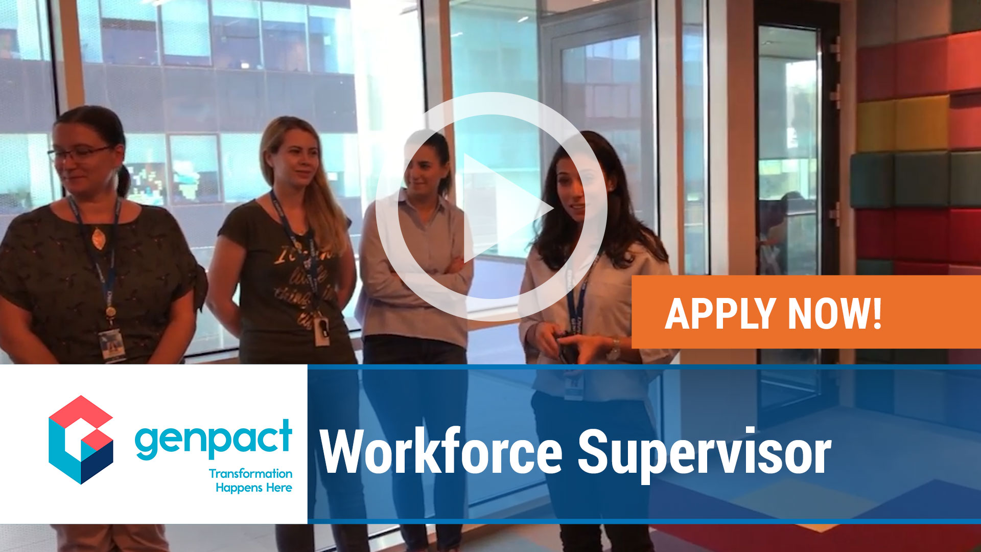 Watch our careers video for available job opening Workforce Supervisor in Richardson, TX, USA