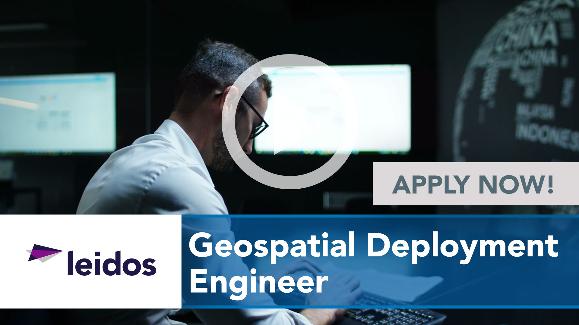 Watch our careers video for available job opening Geospatial Deployment Engineer in National Capital Region with