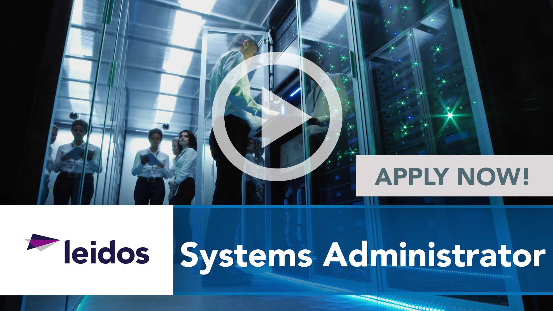 Watch our careers video for available job opening Systems Administrator in National Capital Region with