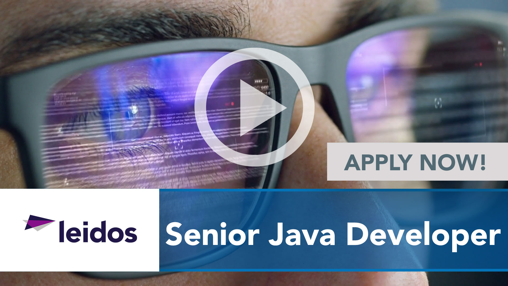 Watch our careers video for available job opening Senior Java Developer in National Capital Region with