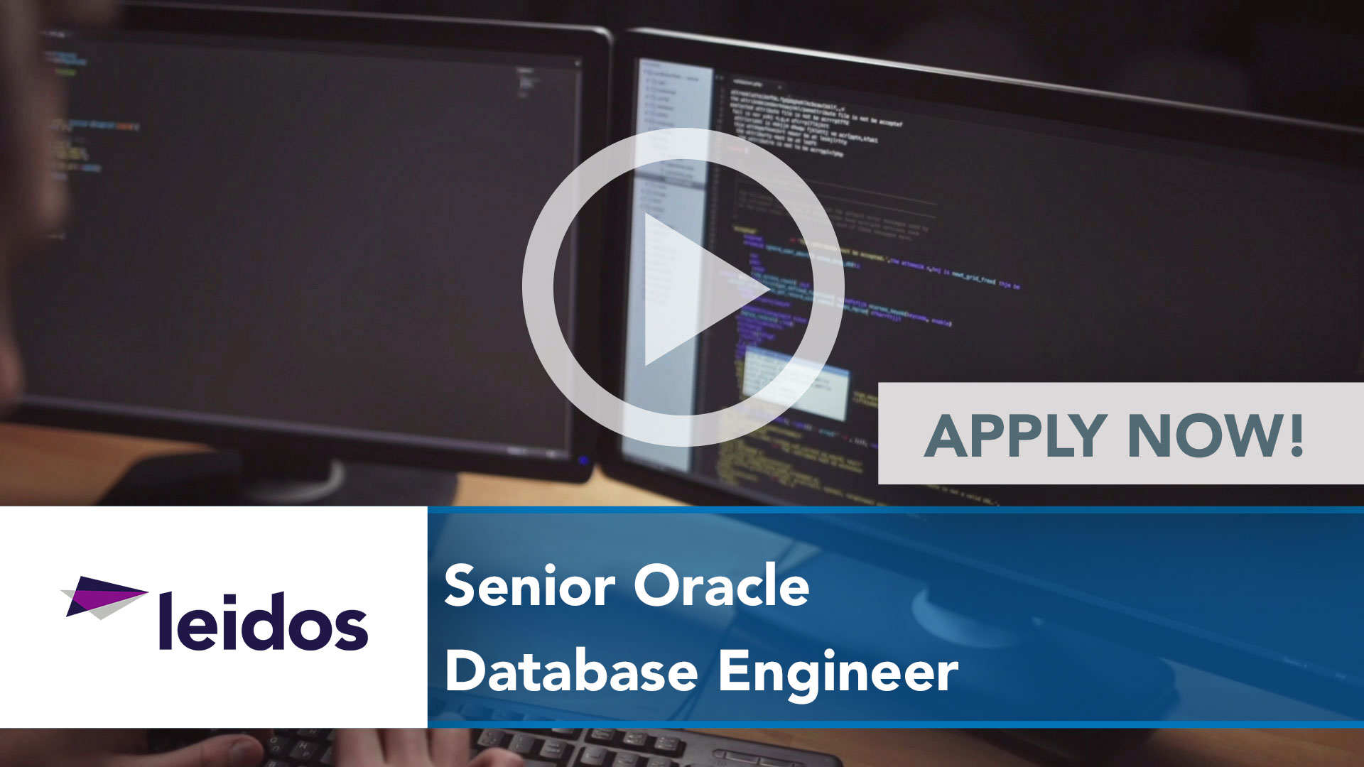 Watch our careers video for available job opening Senior Oracle Database Engineer in National Capital Region with