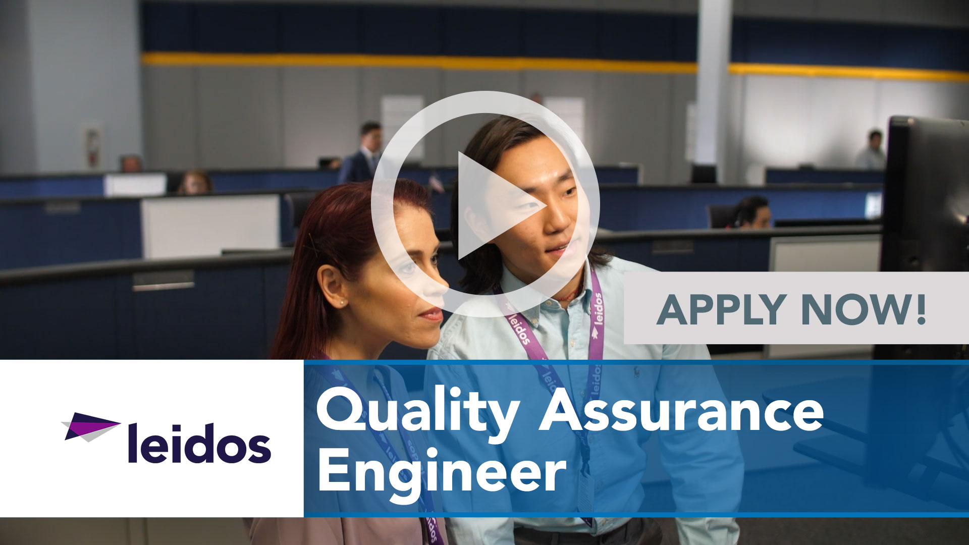 Watch our careers video for available job opening Quality Assurance Engineer in National Capital Region with