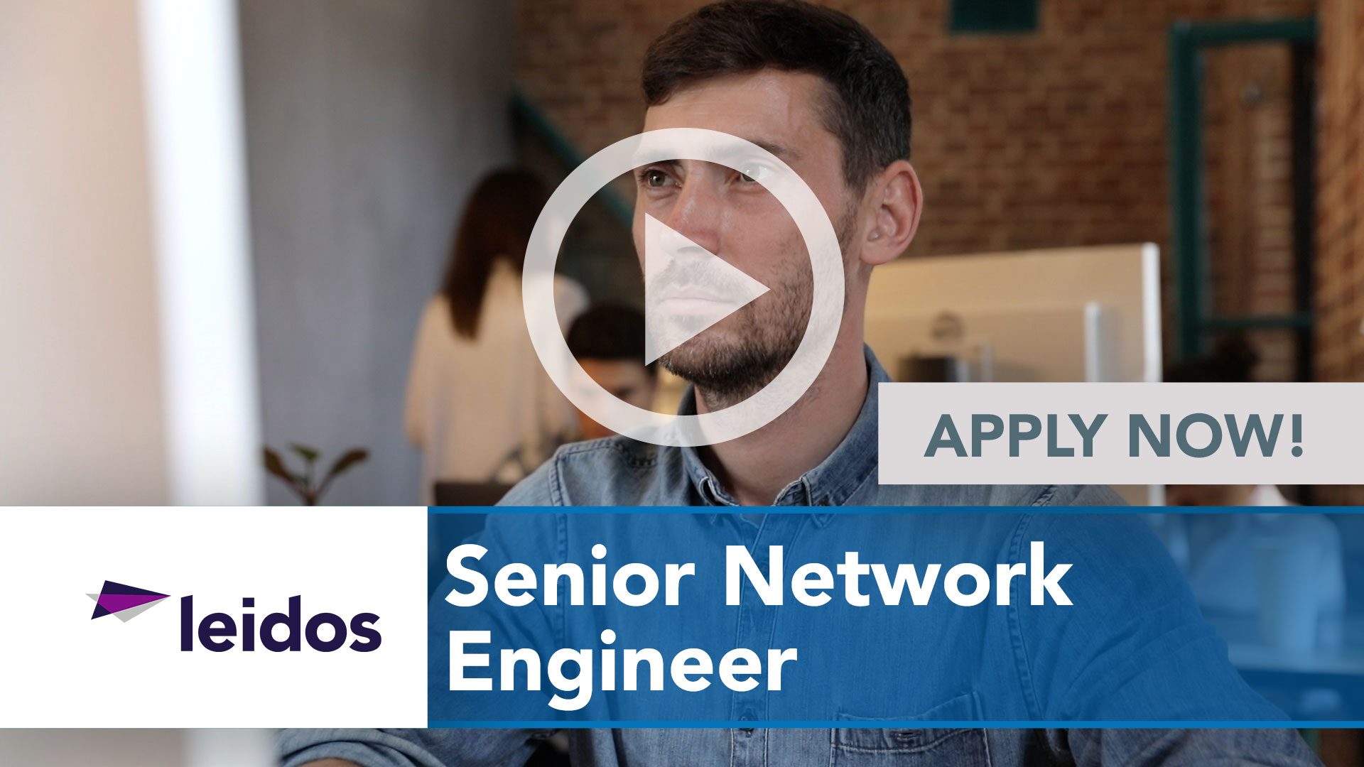 Watch our careers video for available job opening Senior Network Engineer in National Capital Region with