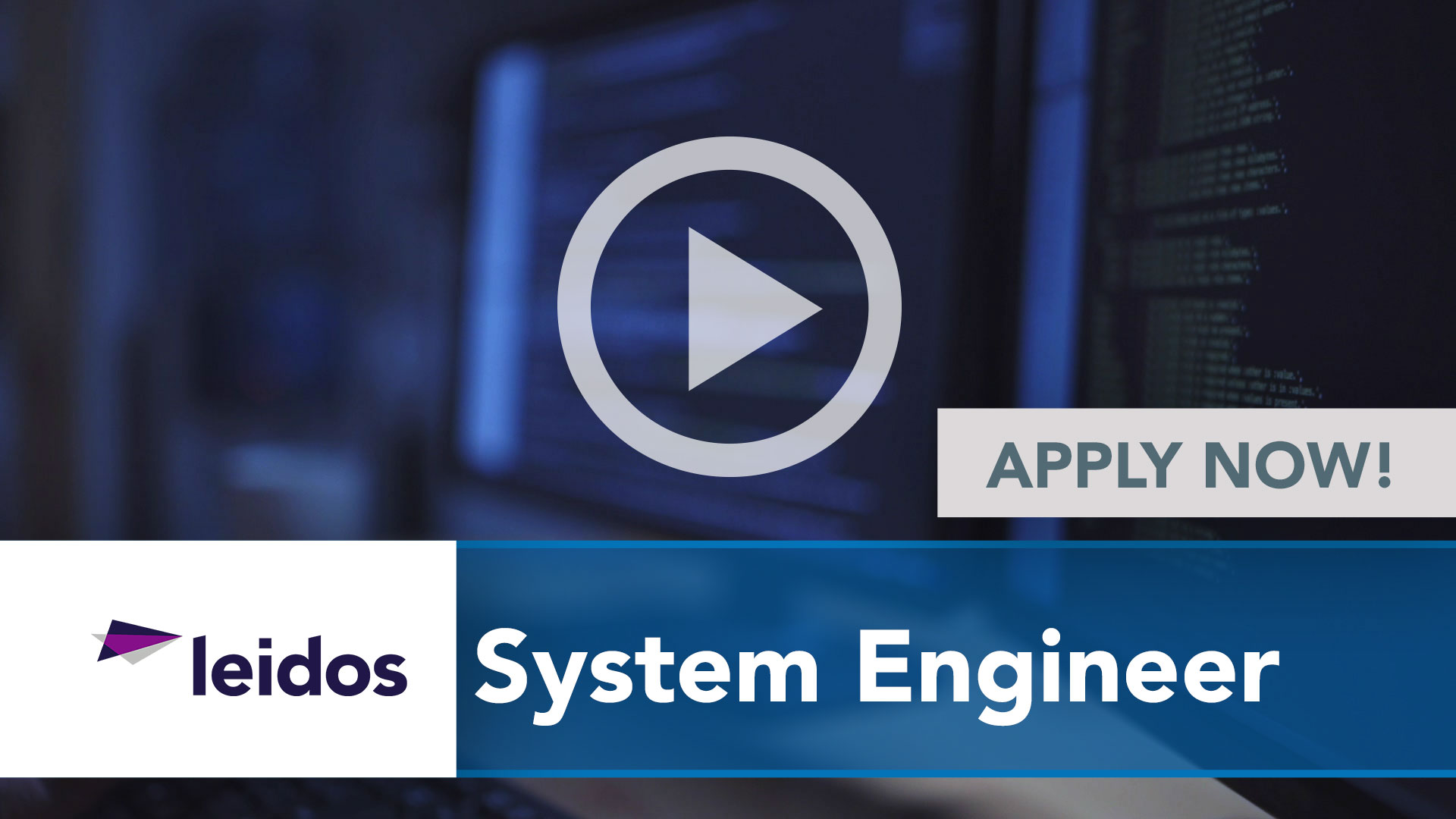 Watch our careers video for available job opening System Engineer in National Capital Region with