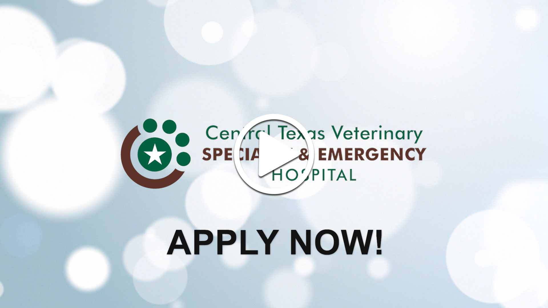 Watch our careers video for available job opening Emergency Veterinarian - Signing Bonus Offered in Austin, Texas