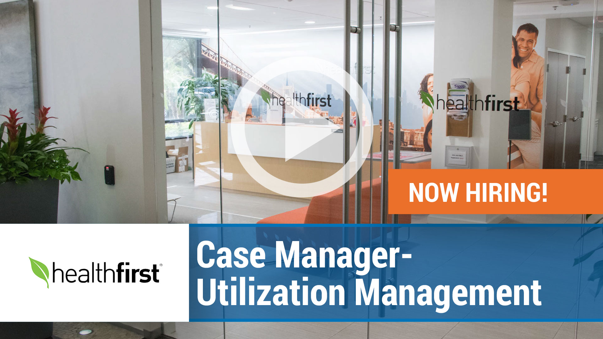 Watch our careers video for available job opening Case Manager - Utilization Management in PA - NJ - NC- CT -  FL -  NYC
