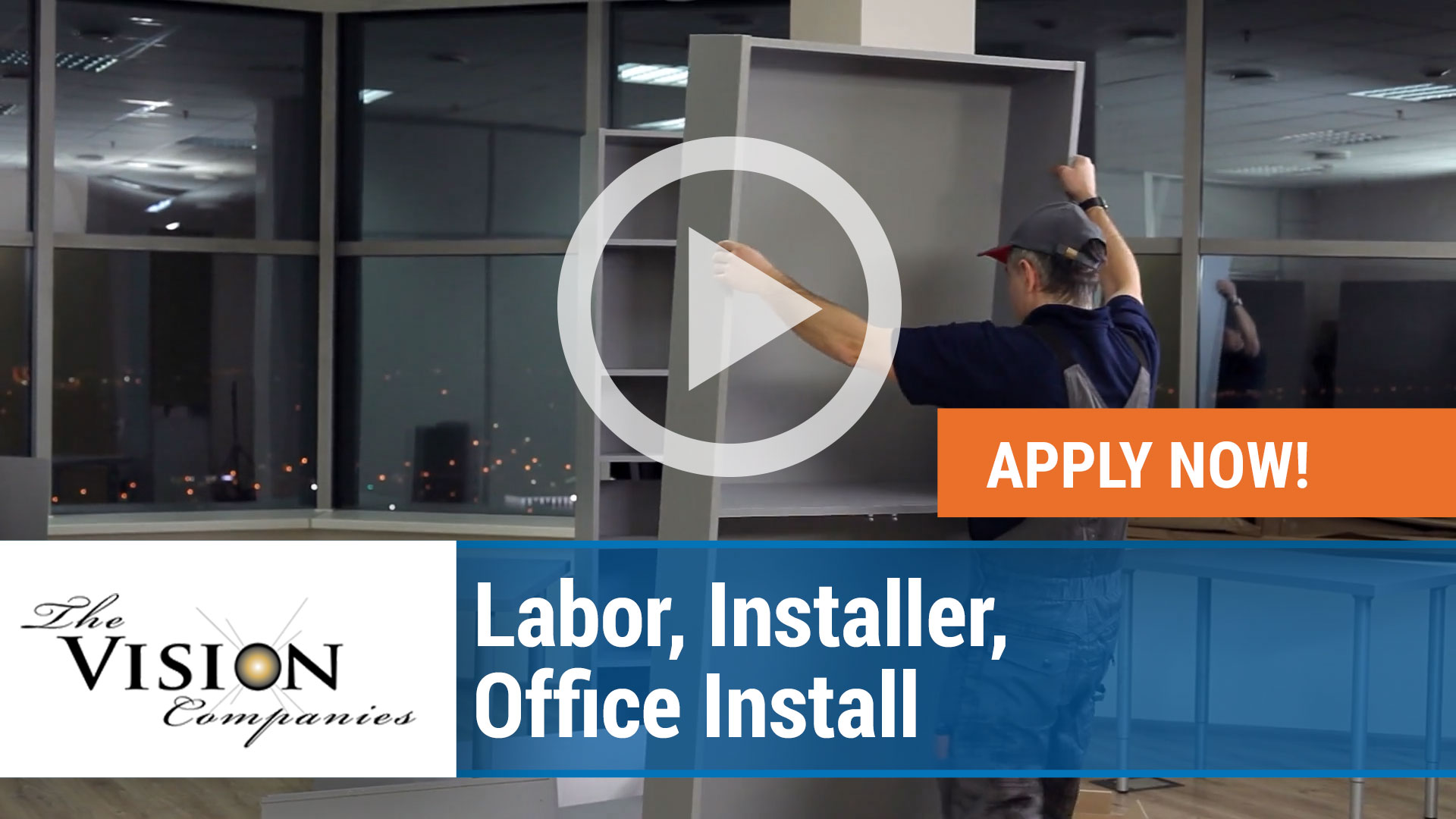 Watch our careers video for available job opening Labor, Installer, Office Install in Minneapolis, Minnesota