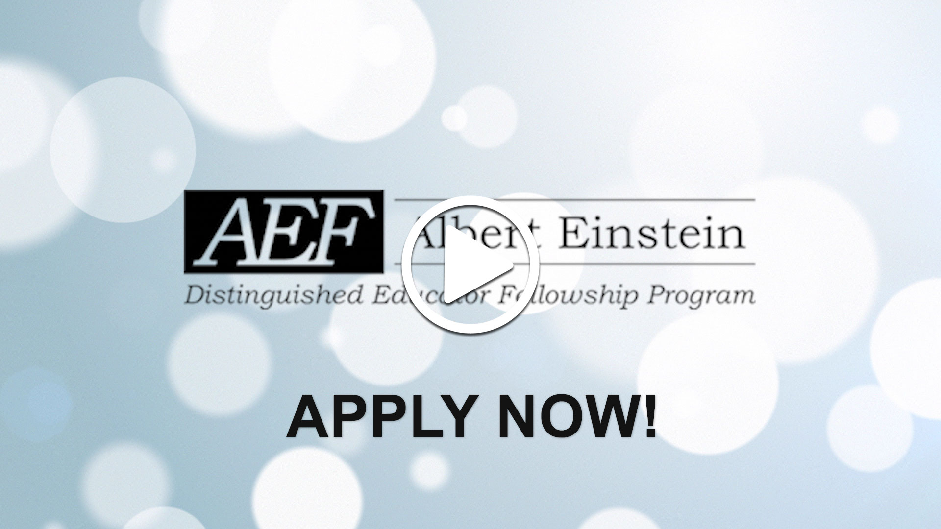 Watch our careers video for available job opening Albert Einstein Distinguished Educator Fellowship in Washington D.C., DC, USA