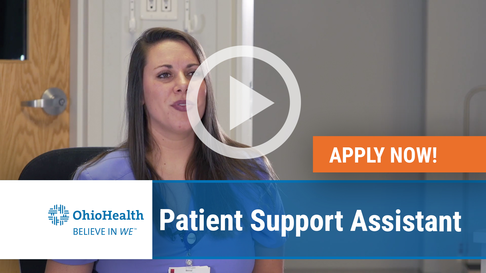 Watch our careers video for available job opening Patient Support Assistant in Columbus, OH