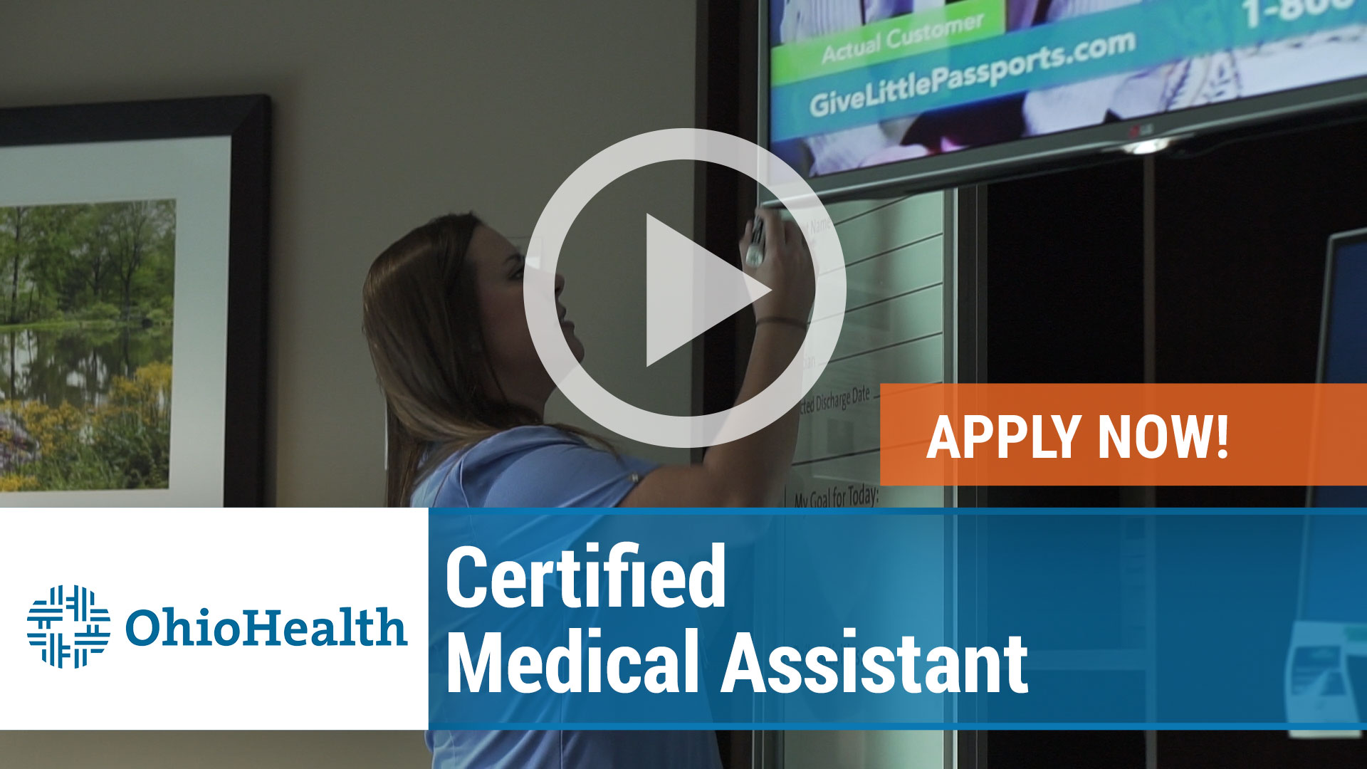 Watch our careers video for available job opening Certified Medical Assistant in Gahanna, Ohio