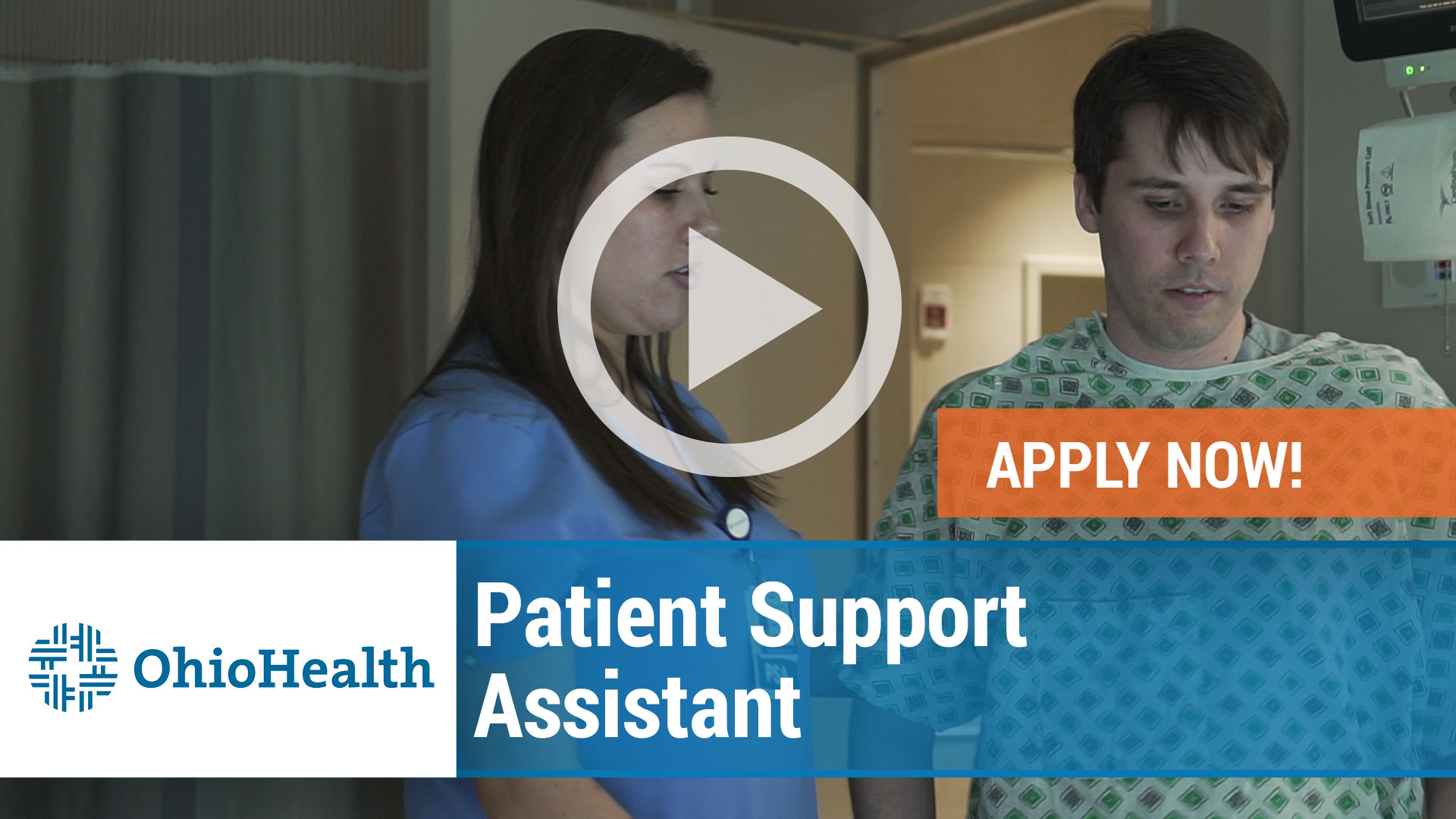 Watch our careers video for available job opening Patient Support Assistant in Dublin, Ohio
