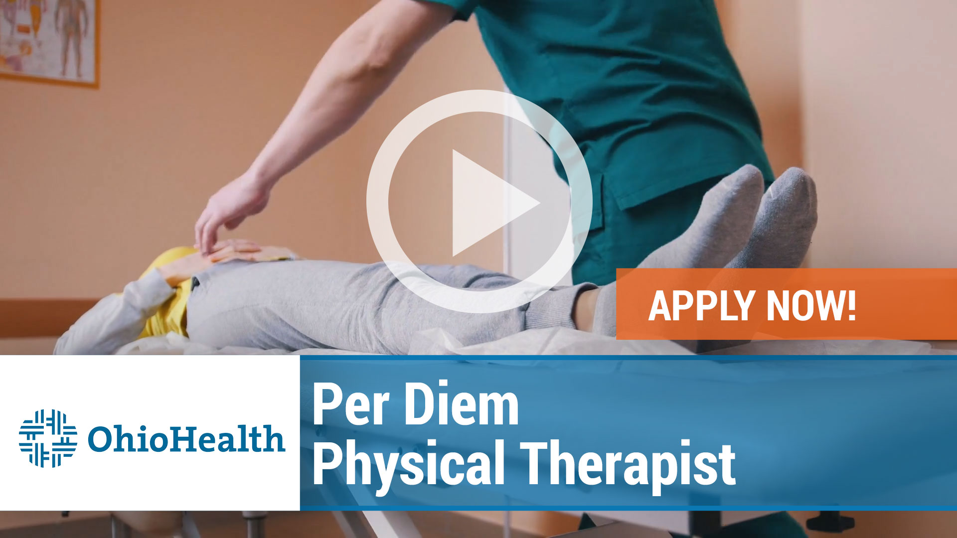 Watch our careers video for available job opening Per Diem Physical Therapist in Columbus, Ohio