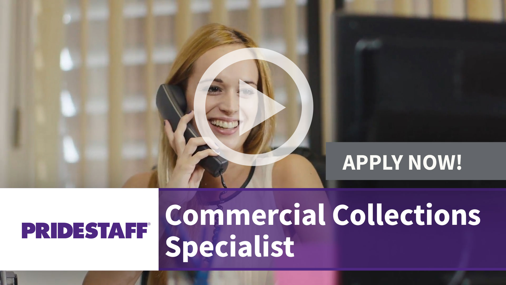 Watch our careers video for available job opening Commercial Collections Specialist in Farmers Branch,Texas. USA