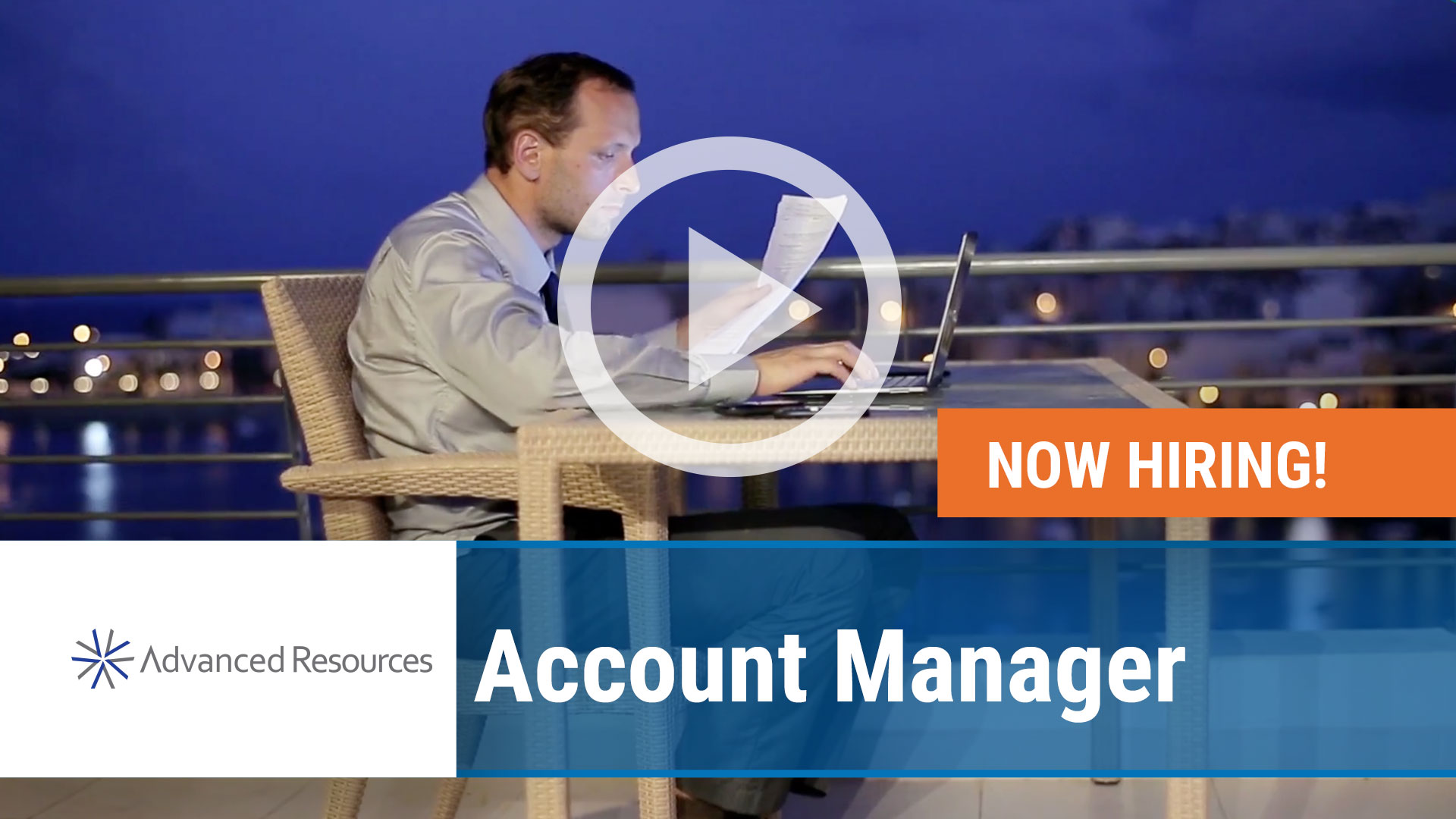 Watch our careers video for available job opening Account Manager in Schaumburg, Illinois