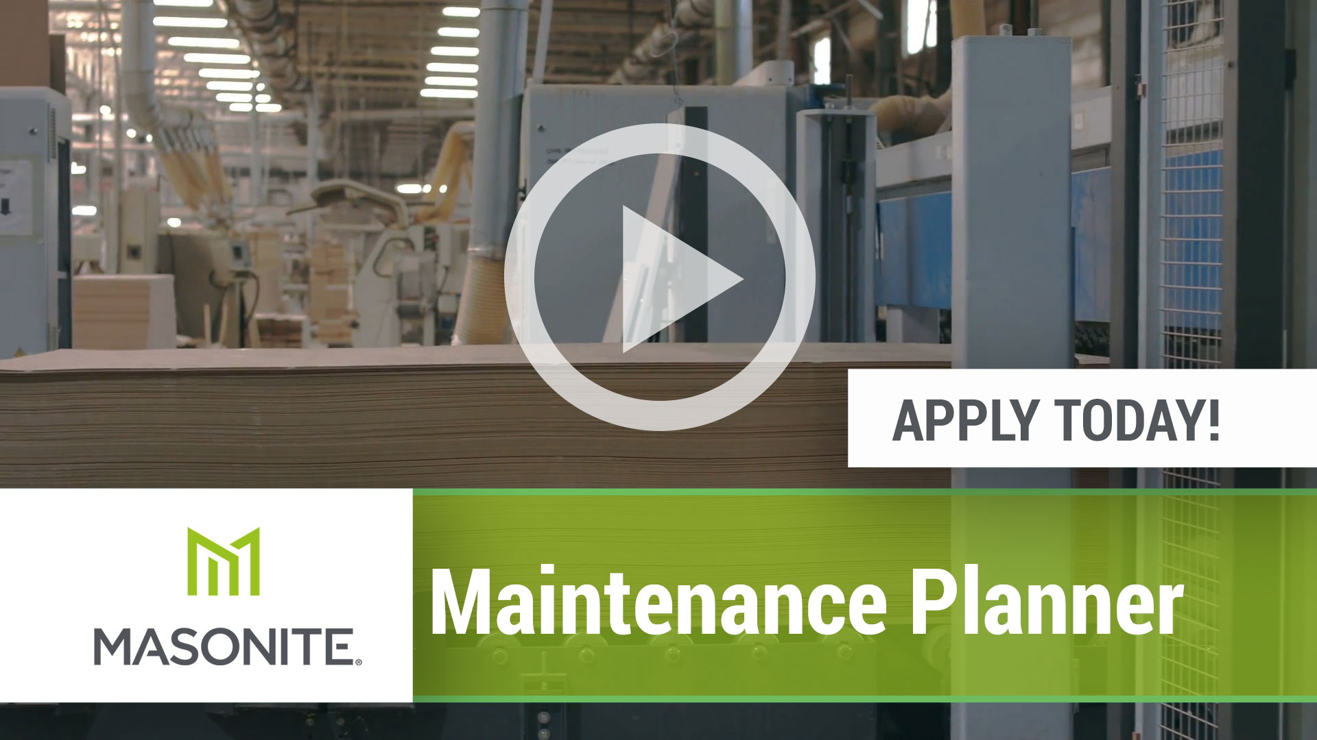 Watch our careers video for available job opening Maintenance Planner in Marshfield, WI.  USA