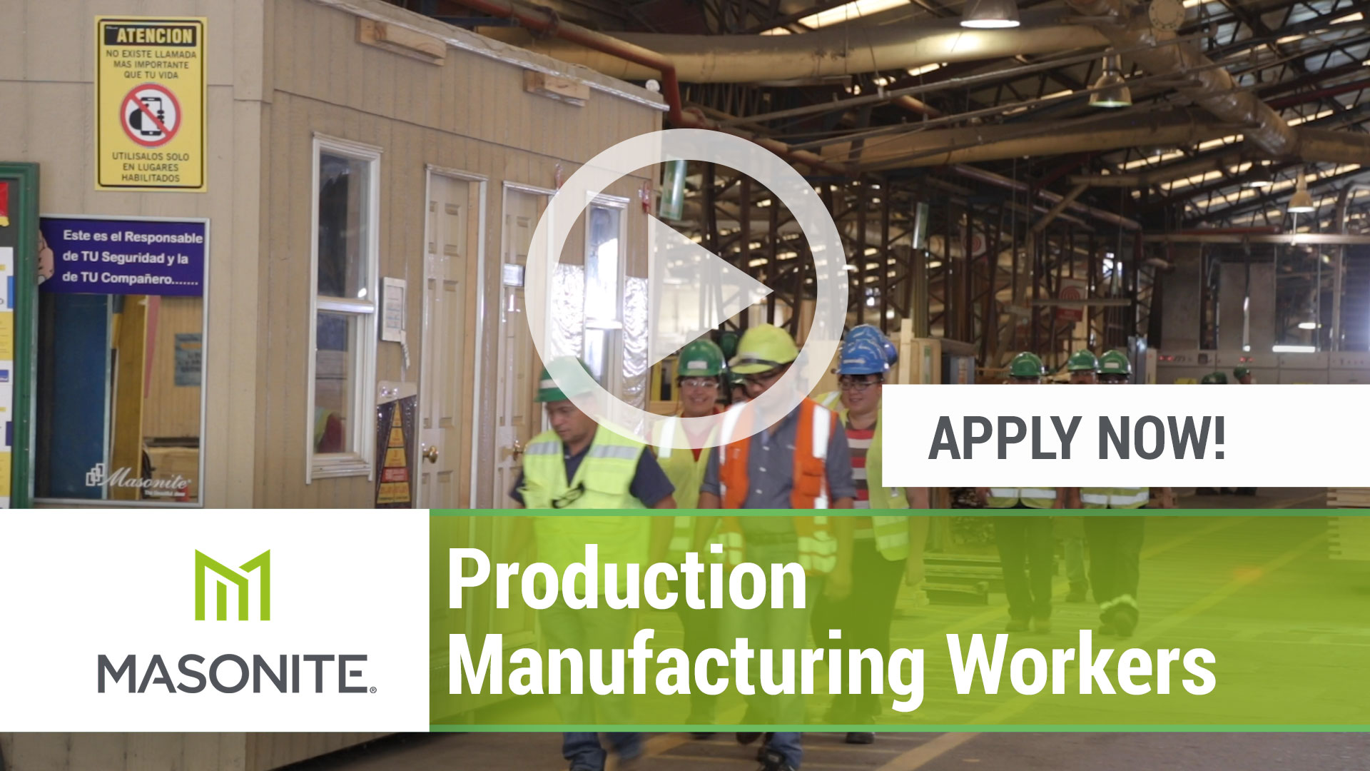 Watch our careers video for available job opening Production Manufacturing Workers in Varies,  Varies.  USA