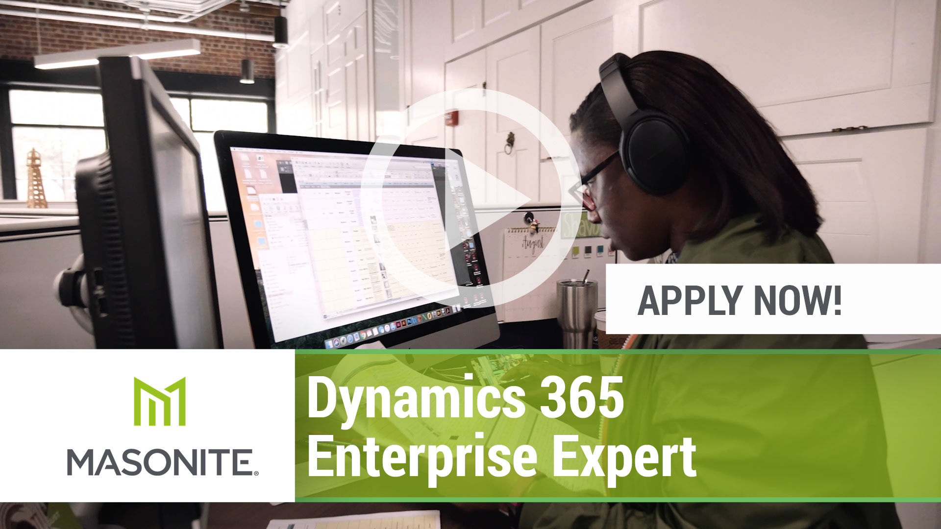 Watch our careers video for available job opening Dynamics 365 Enterprise Expert in Tampa, FL.  USA