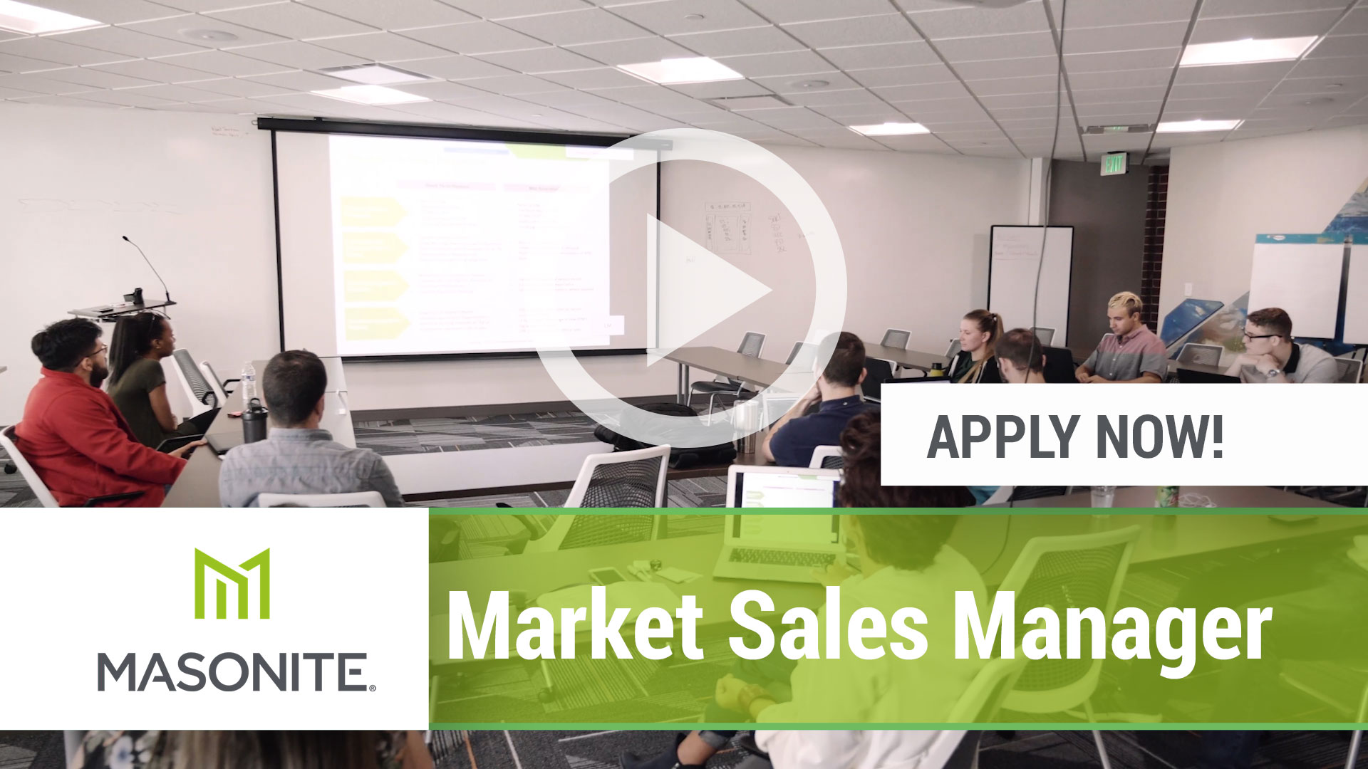 Watch our careers video for available job opening Market Sales Manager in Varies, Varies.  USA