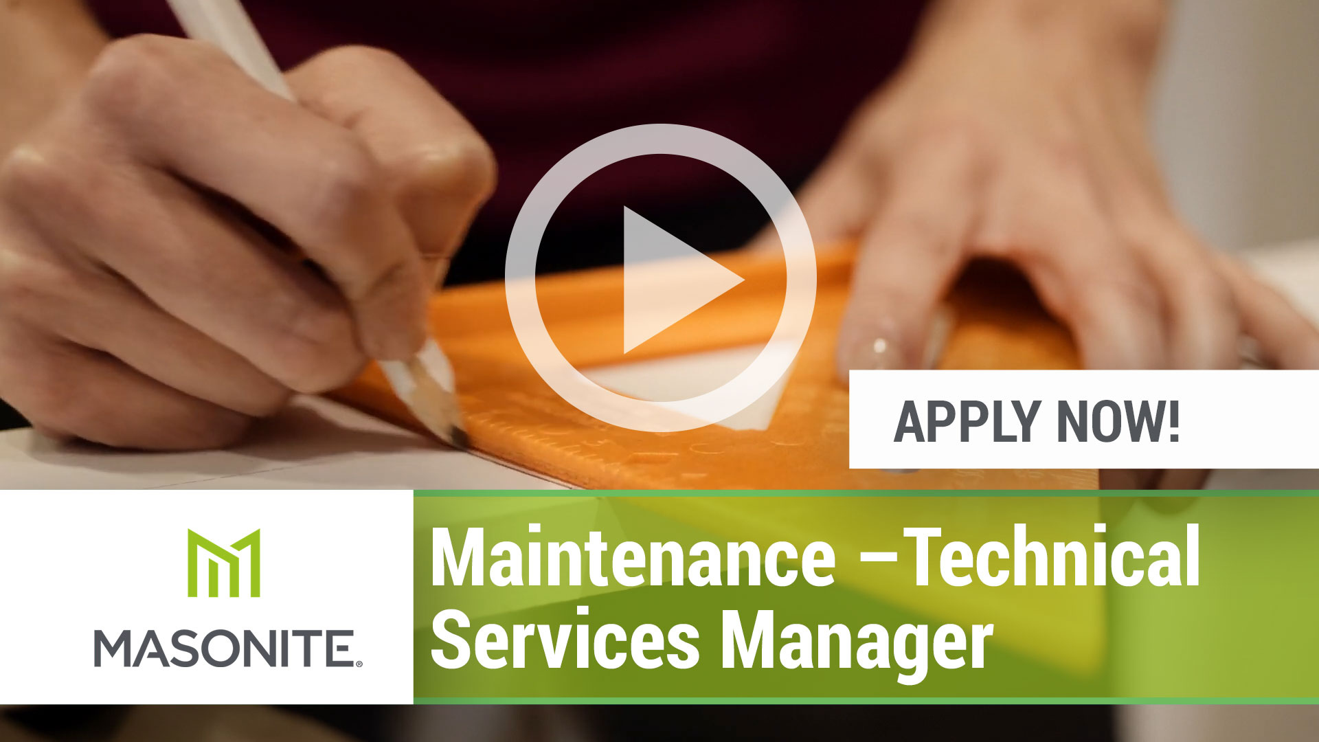 Watch our careers video for available job opening Maintenance - Technical Services Manager in Marshfield, WI USA