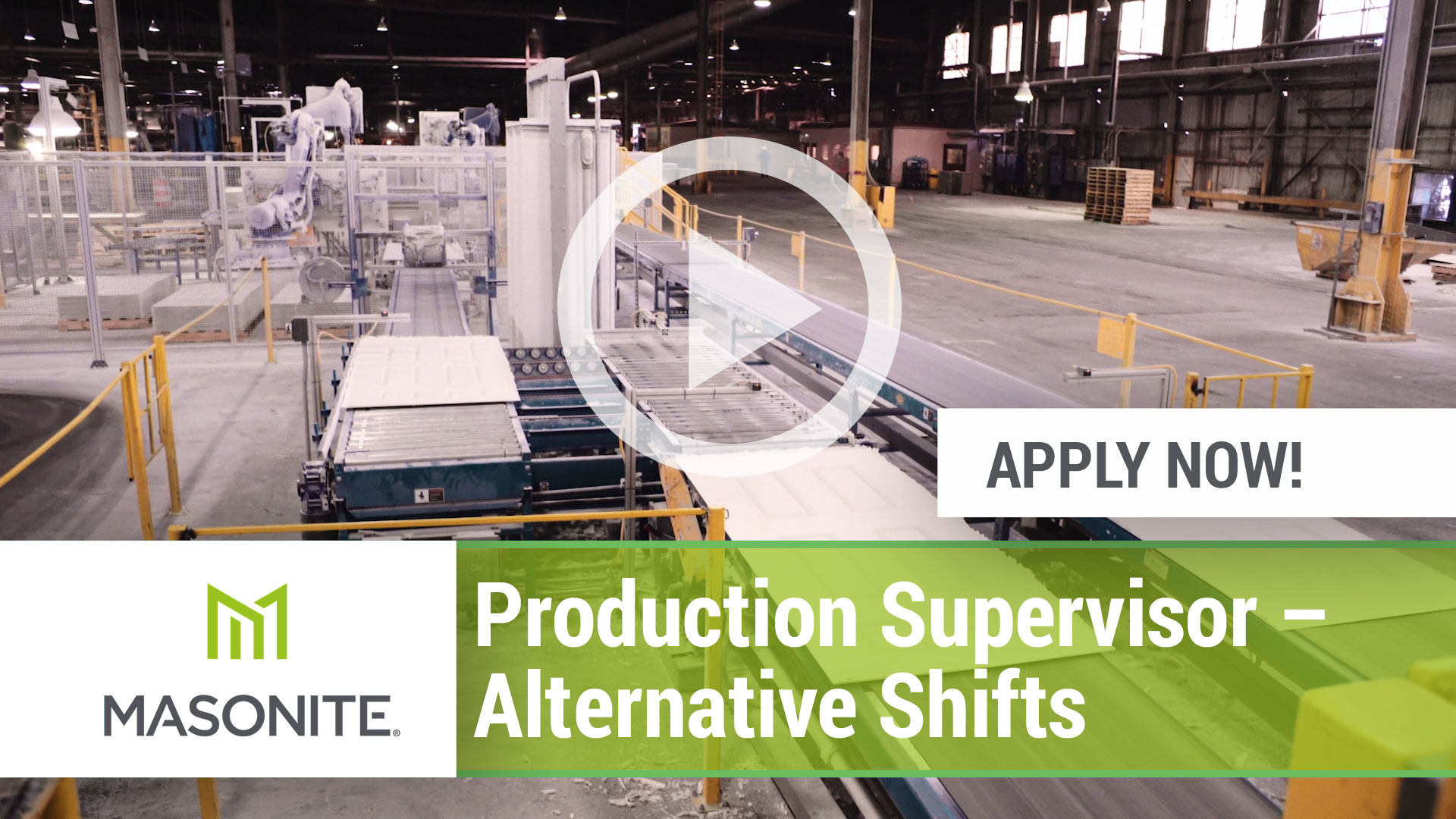 Watch our careers video for available job opening Production Supervisor - Alternative Shifts in North Platte, Nebraska.  USA