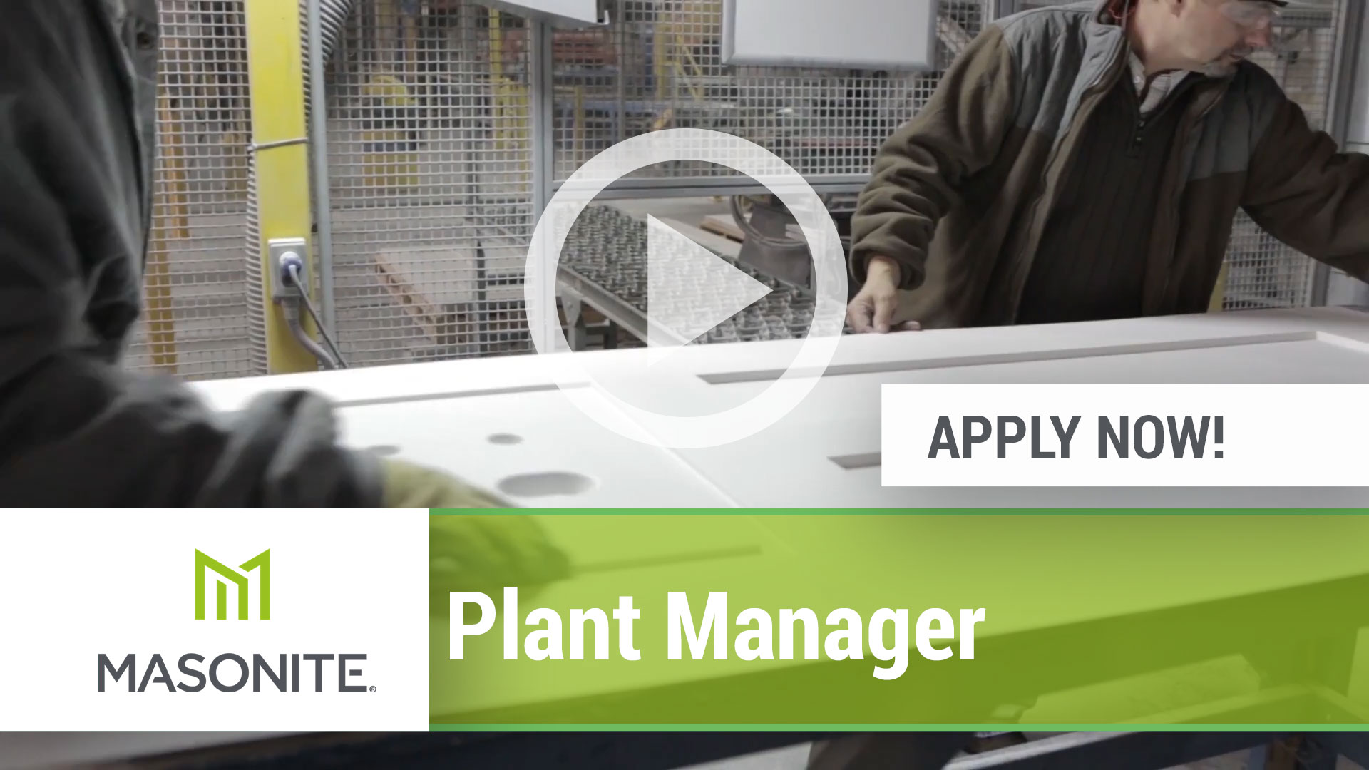 Watch our careers video for available job opening Plant Manager in Varies, Varies USA