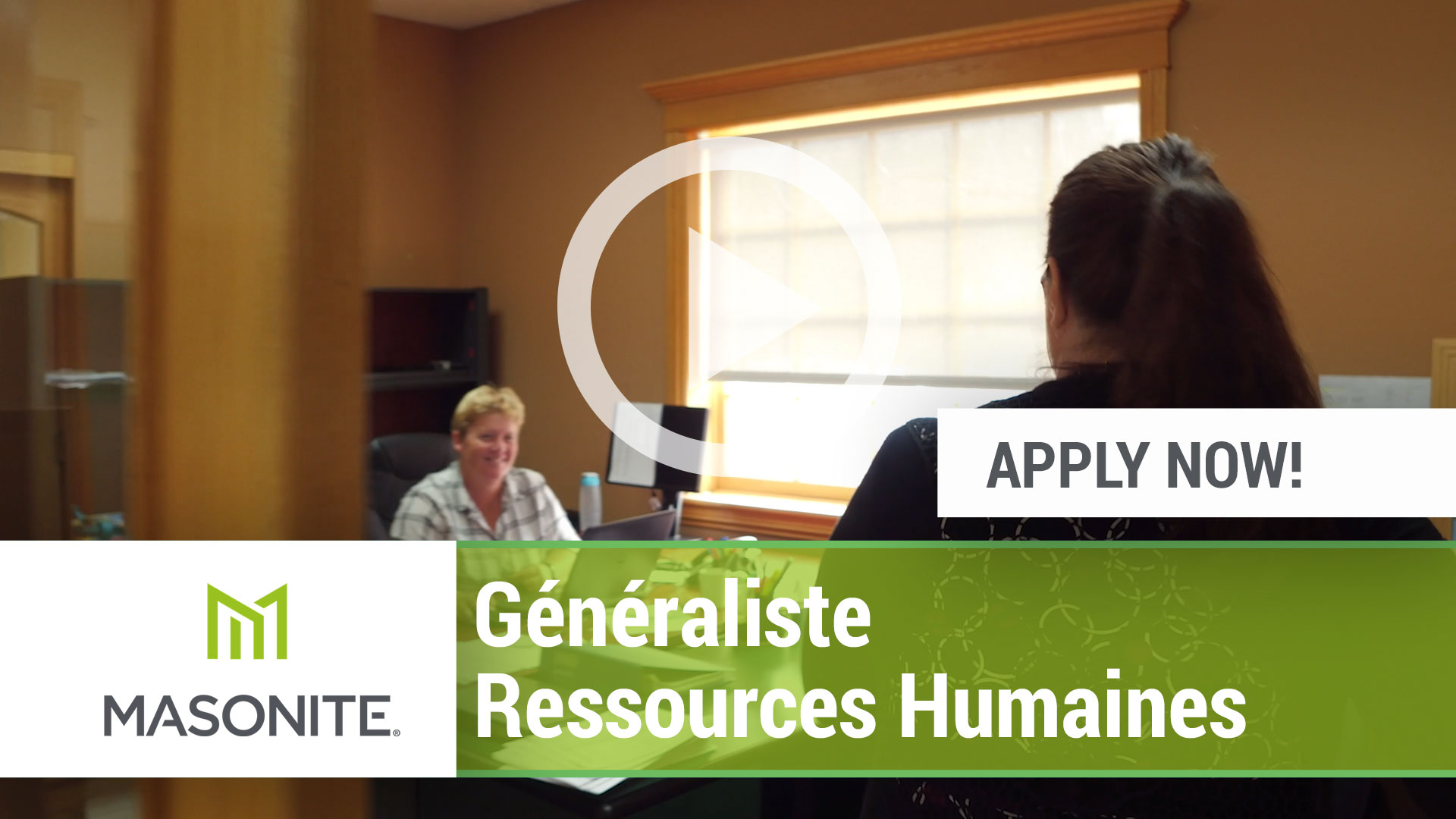 Watch our careers video for available job opening Generaliste Ressources Humaines in Lac-Megantic, Quebec.  CANADA