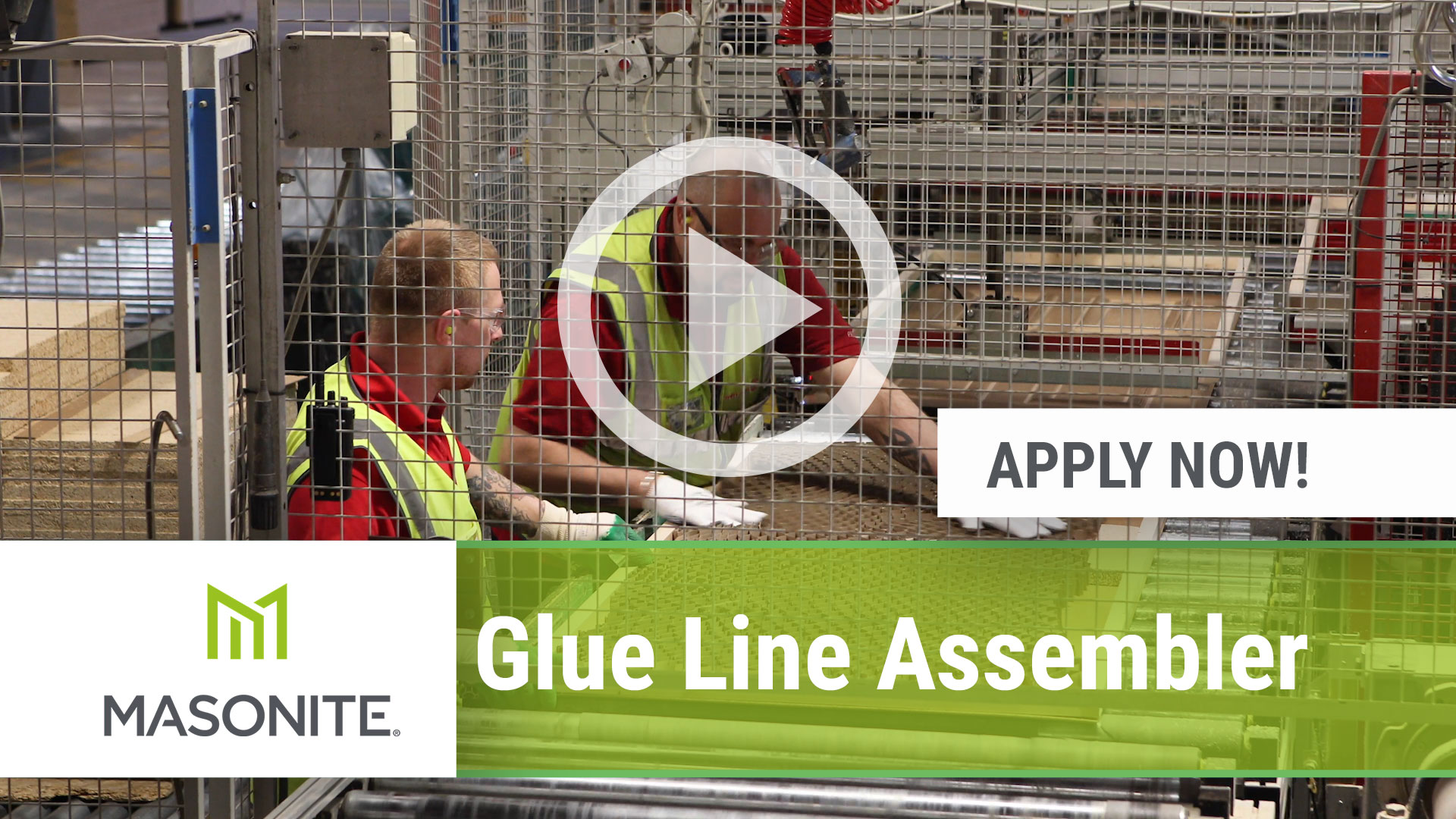 Watch our careers video for available job opening Glue Line Assembler in Northumberland, PA, USA