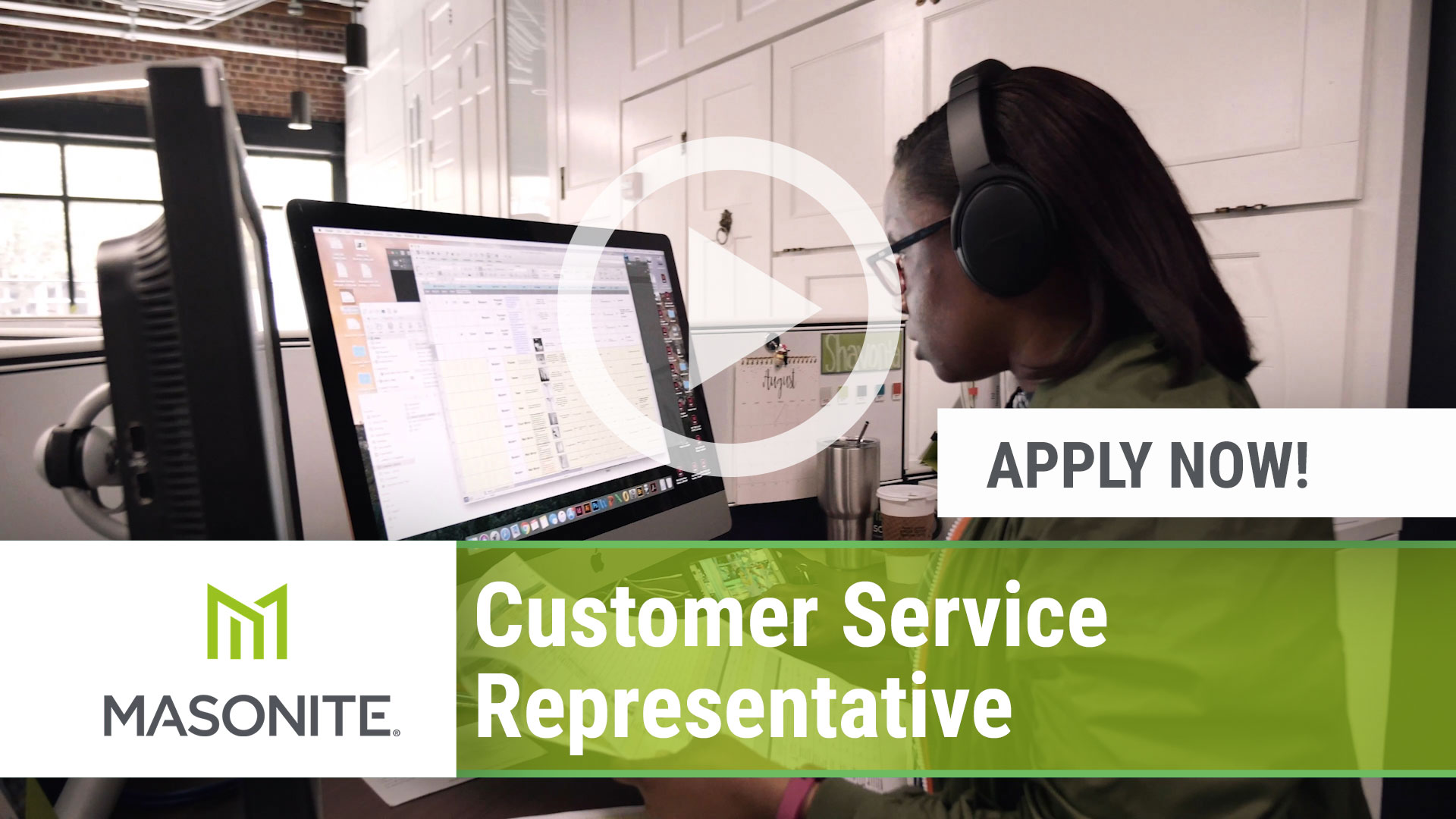 Watch our careers video for available job opening Customer Service Representative in Varies