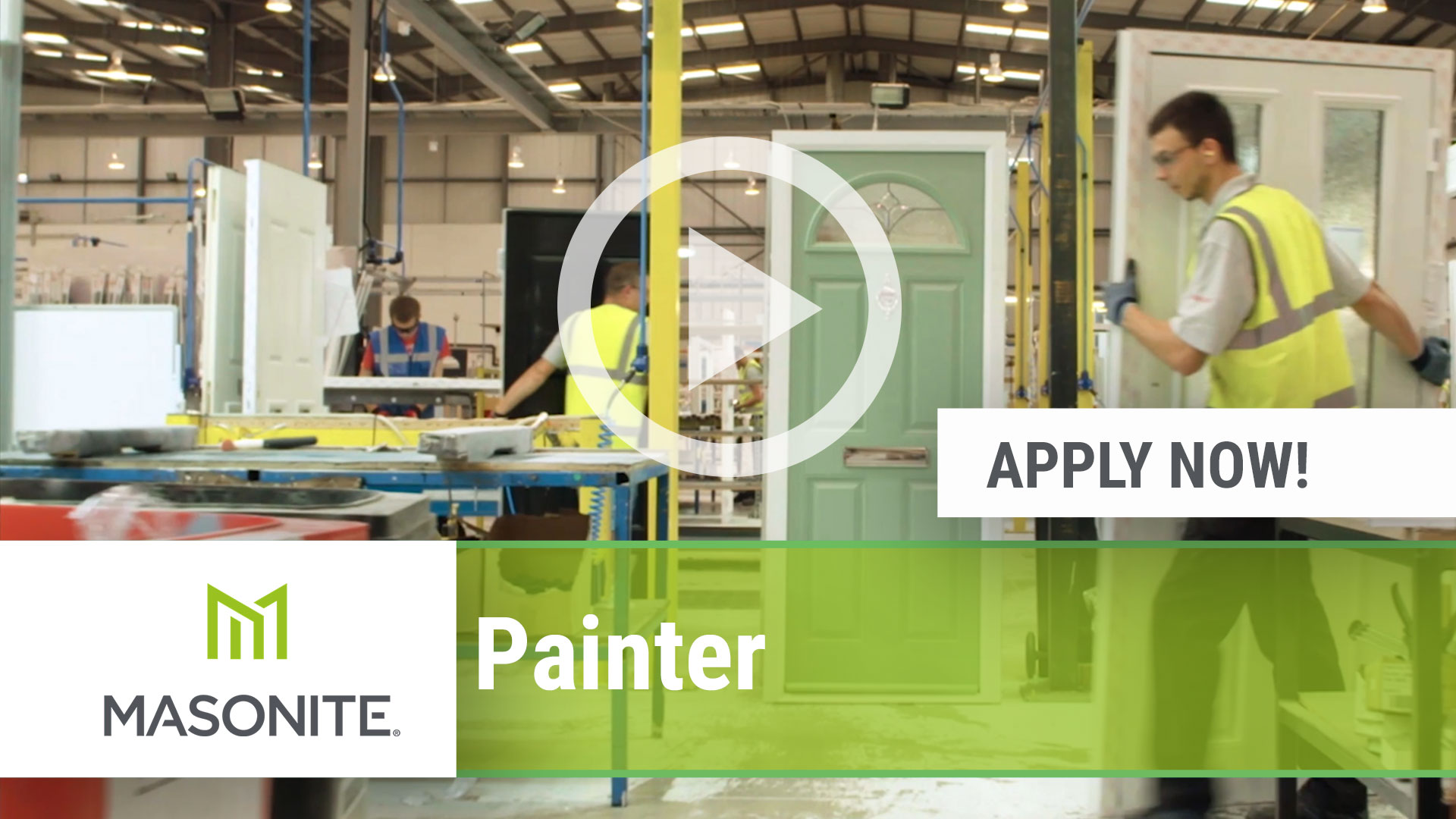 Watch our careers video for available job opening Painter in Stanley, VA, USA