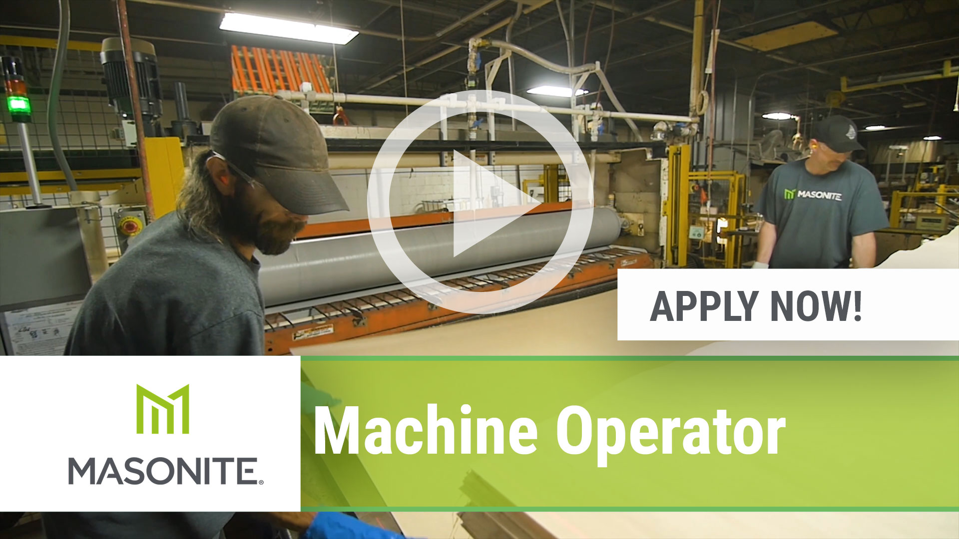 Watch our careers video for available job opening Machine Operator in Northumberland, PA, USA