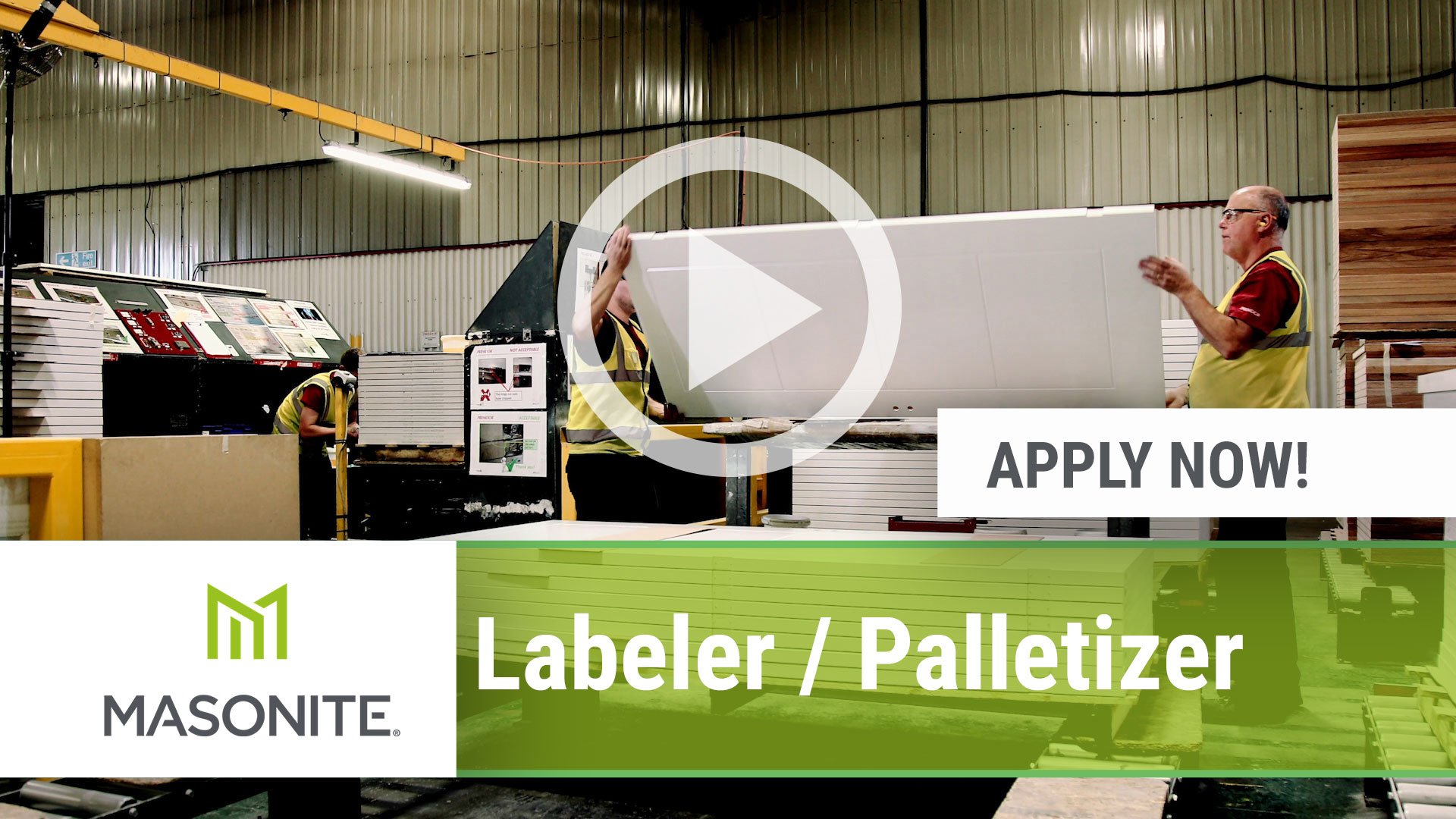 Watch our careers video for available job opening Labeler _ Palletizer in Lawrenceville, GA, USA