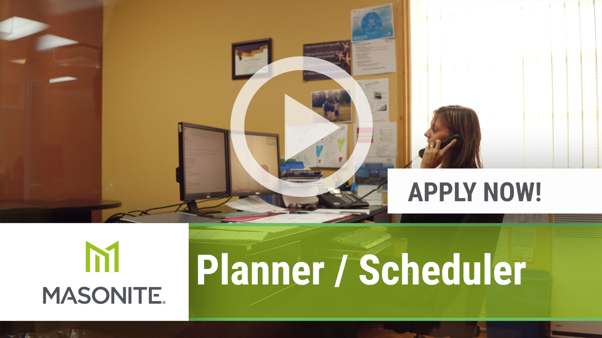 Watch our careers video for available job opening Planner _ Scheduler in Marshfield, WI, USA