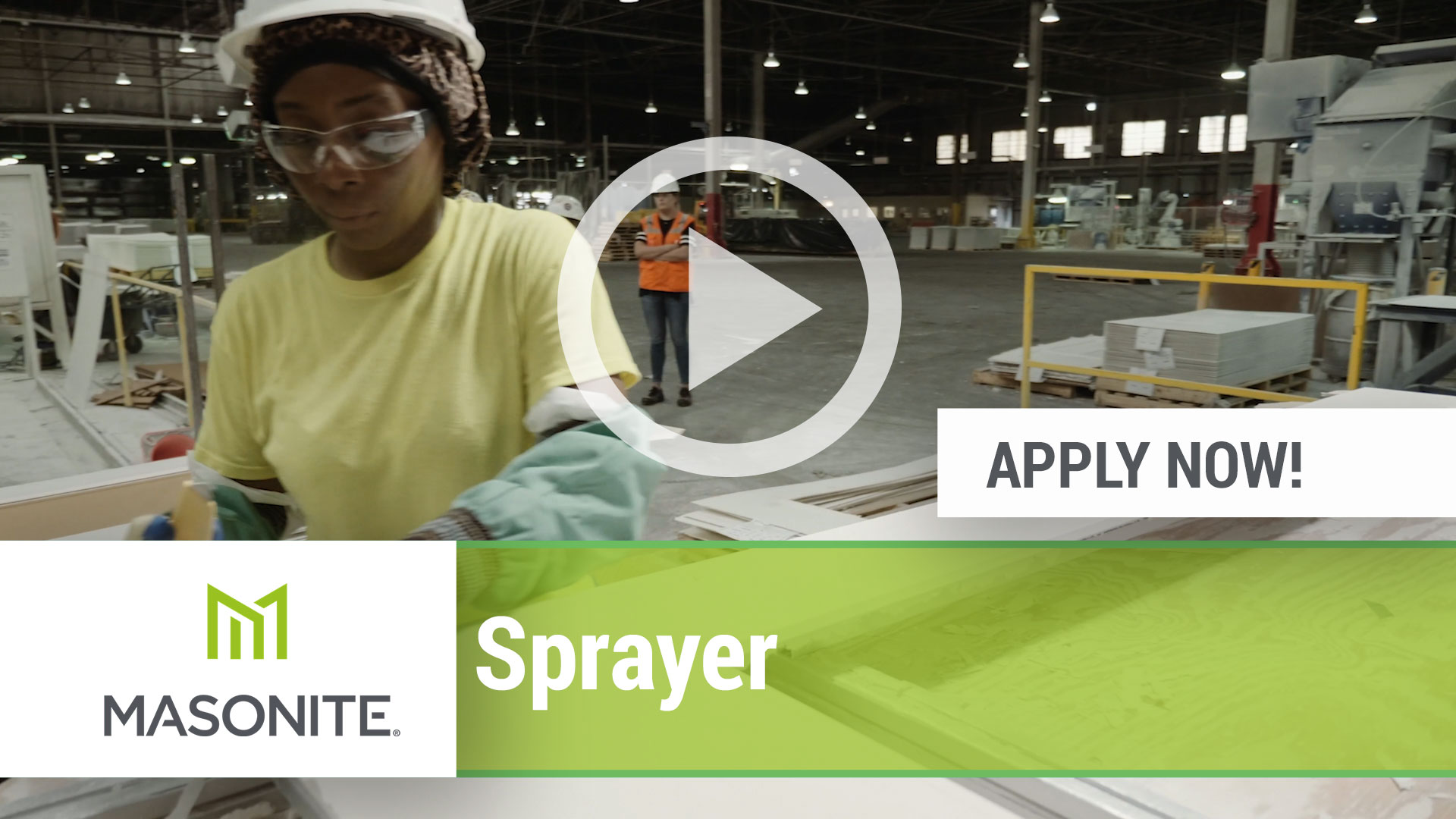 Watch our careers video for available job opening Sprayer in Northumberland, PA, USA