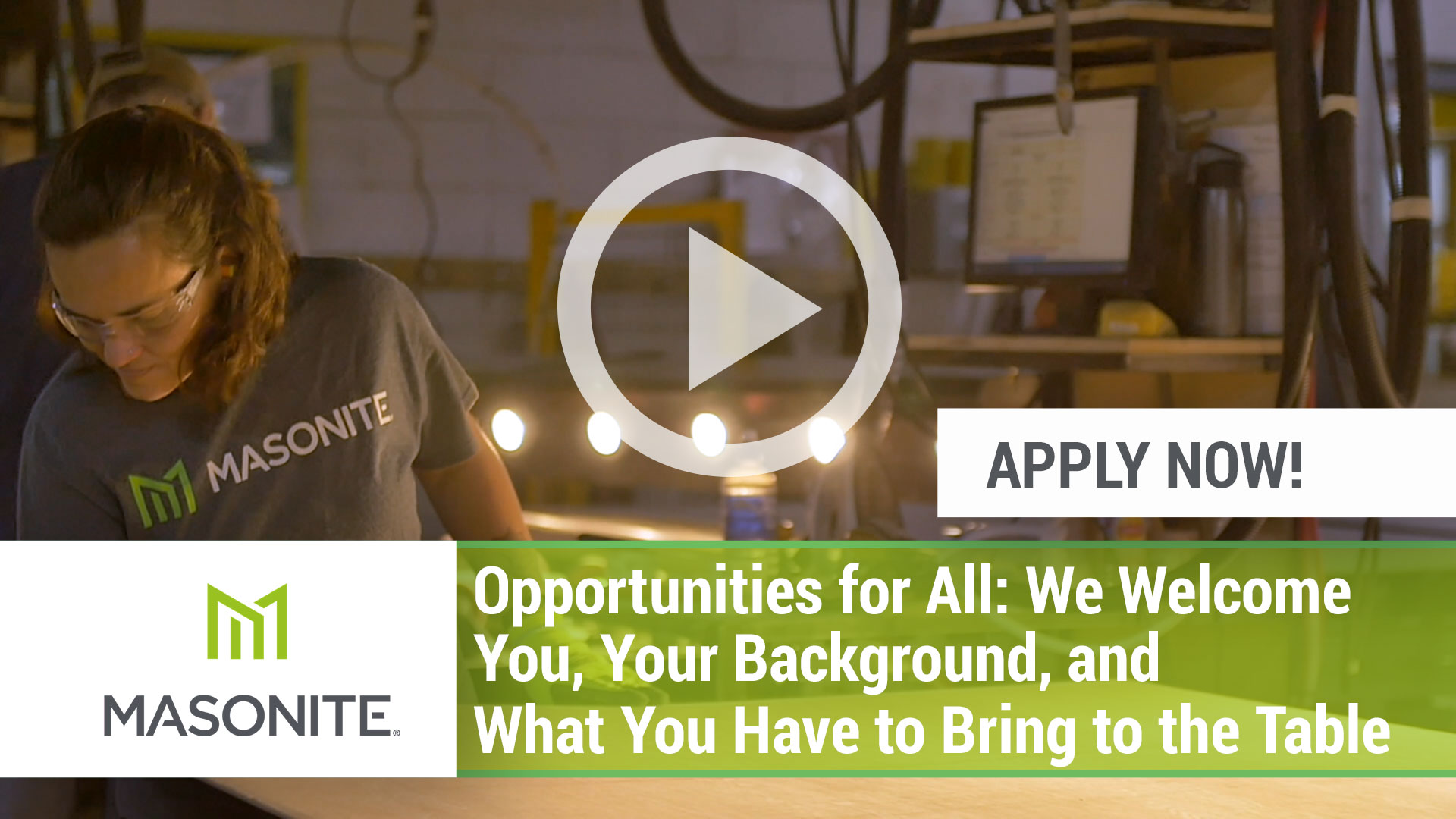 Watch our careers video for available job opening Opportunities for All: We Welcome you, Your Backg in Varies