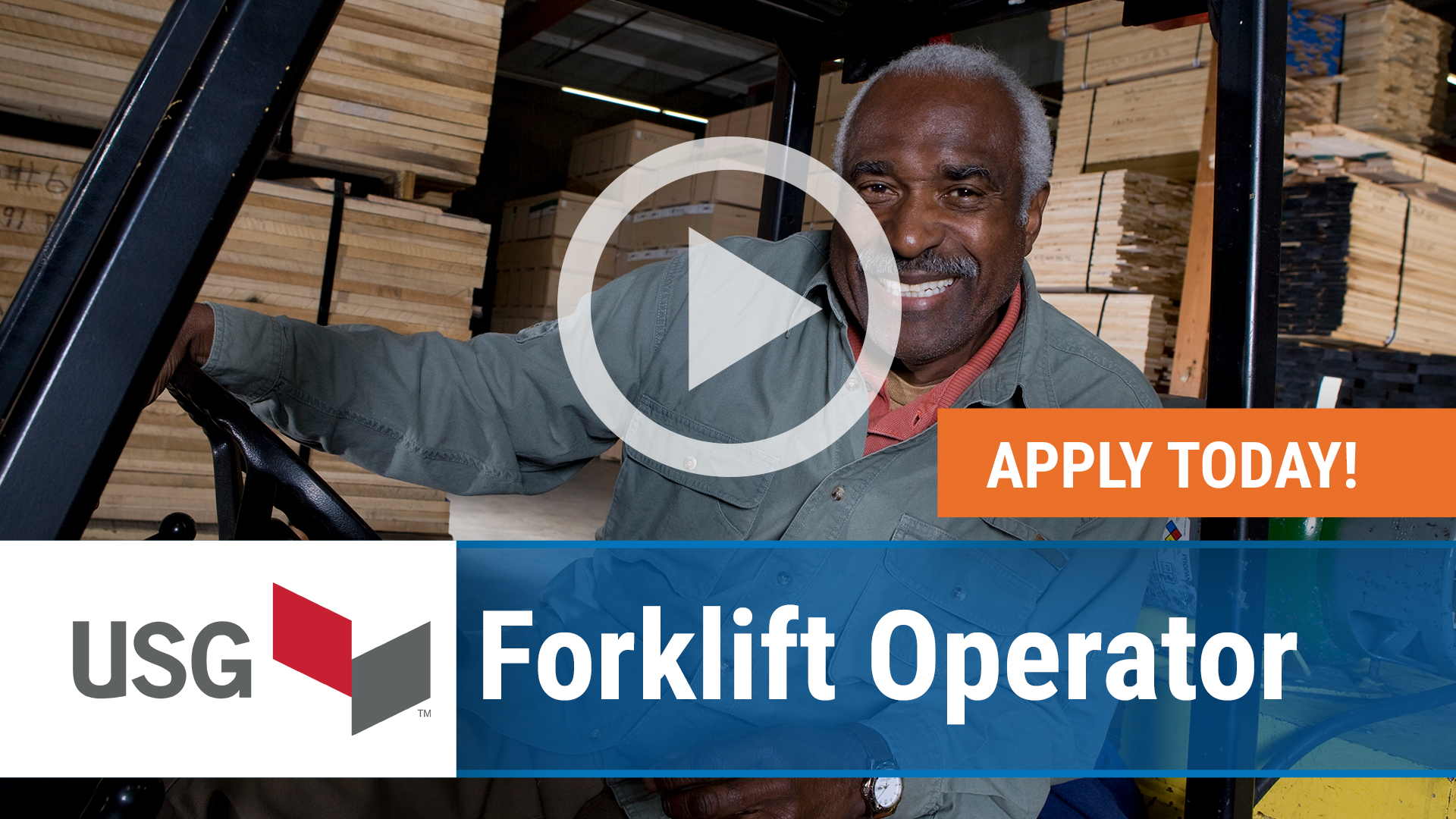 Watch our careers video for available job opening Forklift Operator in Bridgeport