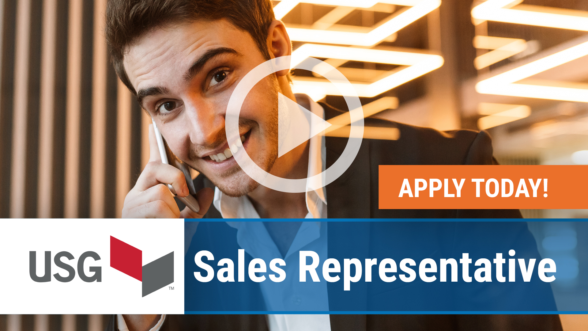 Watch our careers video for available job opening Sales Representative in Washington, DC