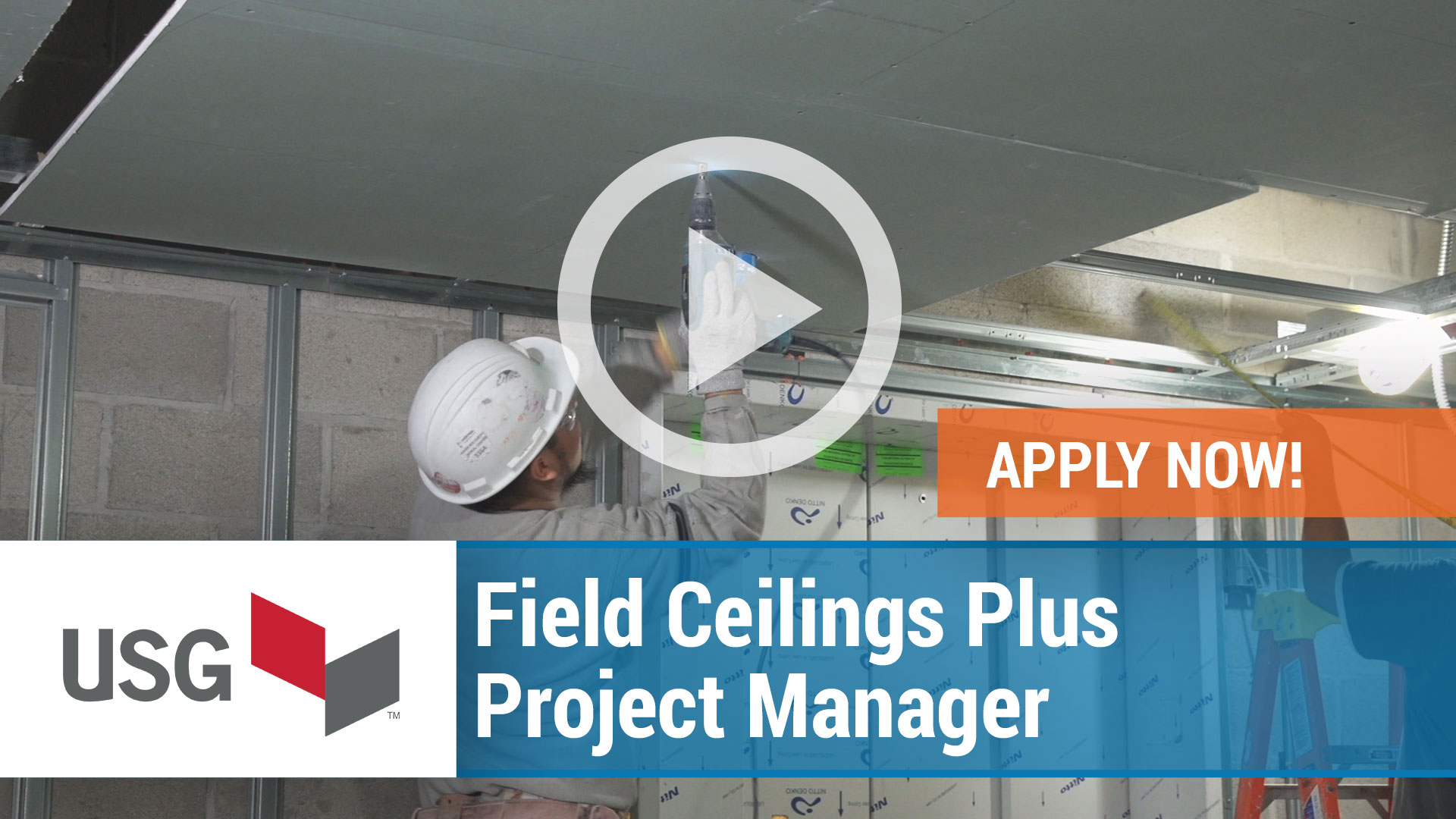 Watch our careers video for available job opening Field Ceilings Plus Project Manager in USA