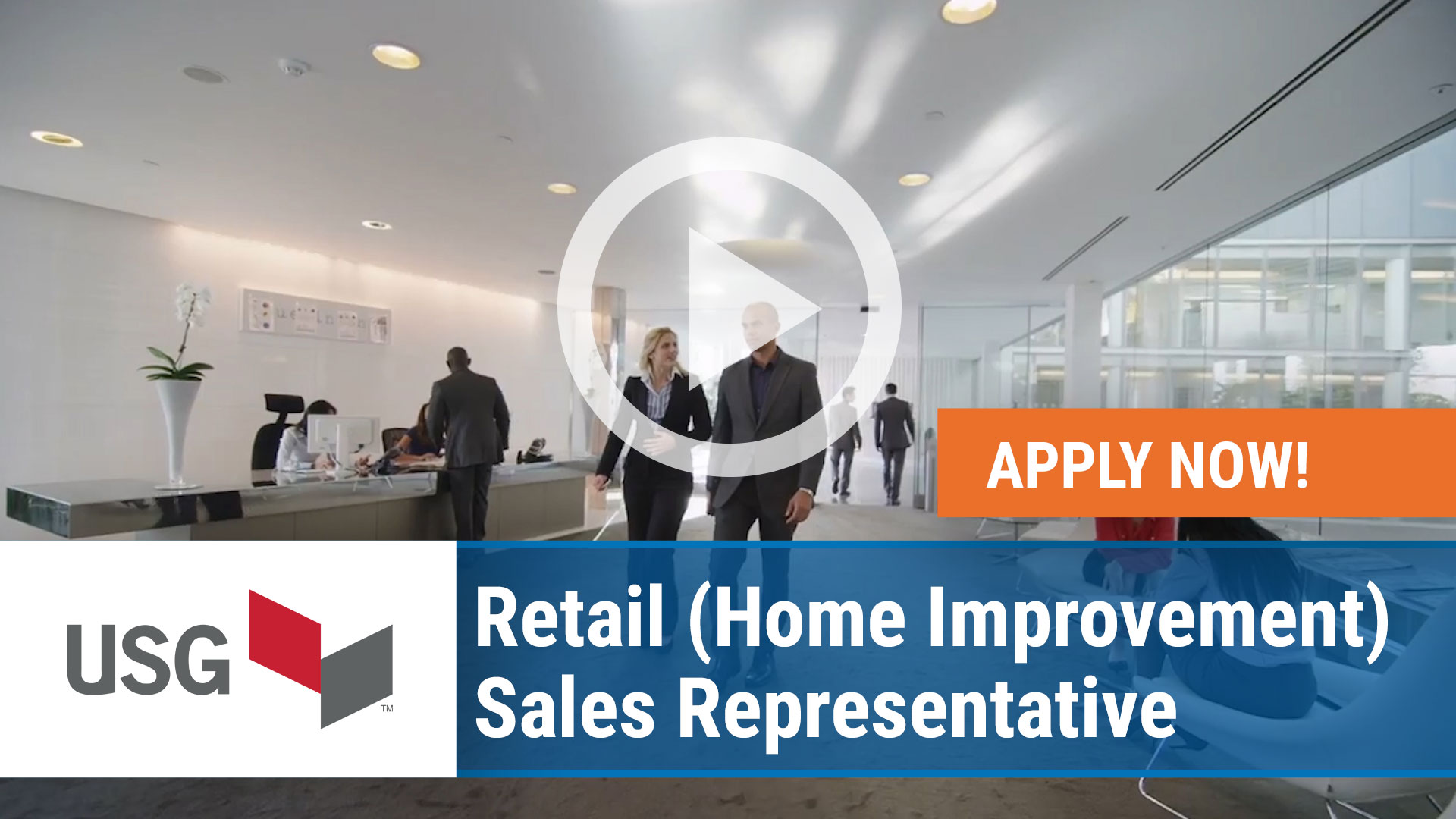 Watch our careers video for available job opening Retail - Home Improvement - Sales Representative  in Washington, USA