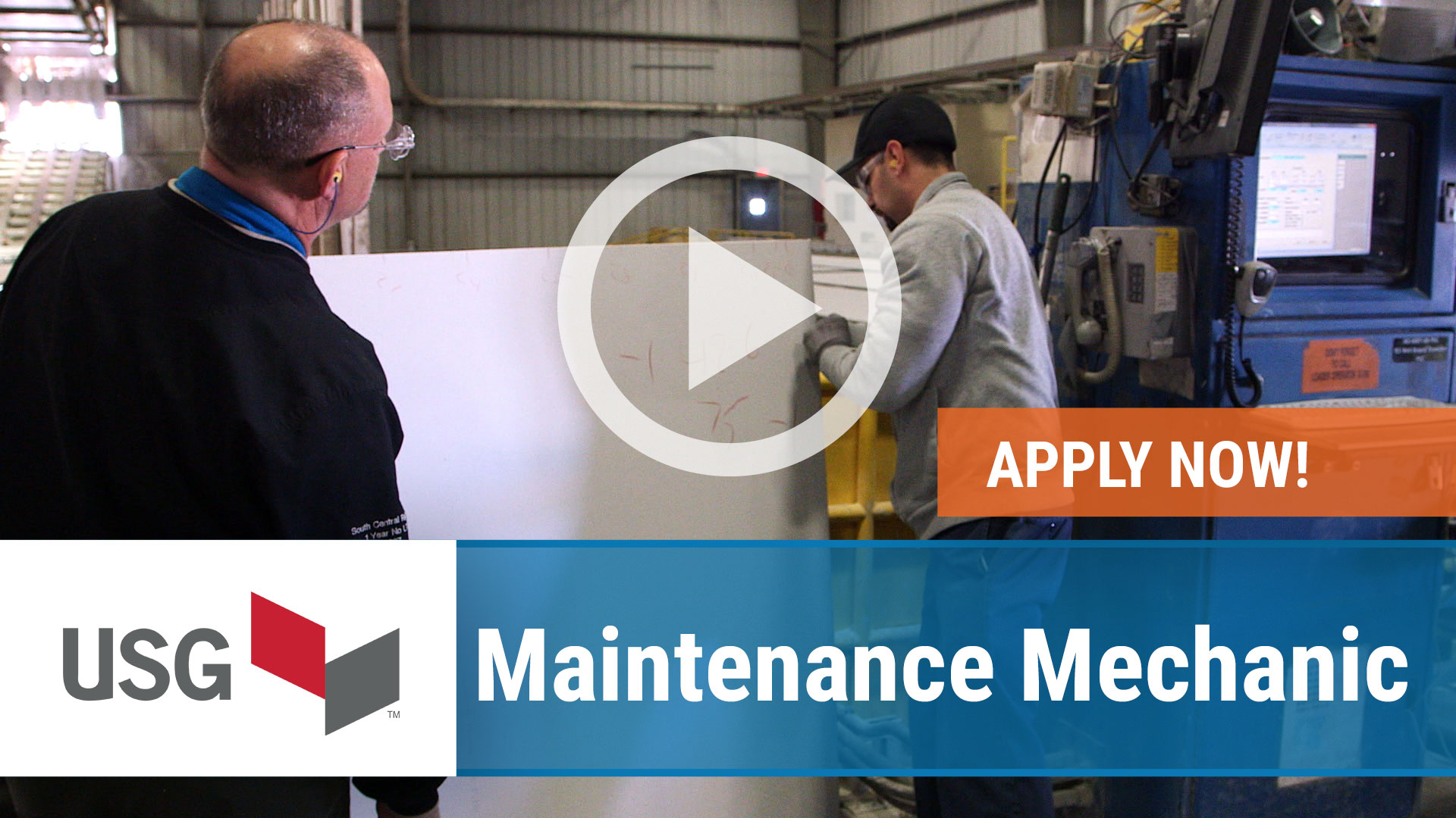 Watch our careers video for available job opening Maintenance Mechanic in Gypsum, OH, USA