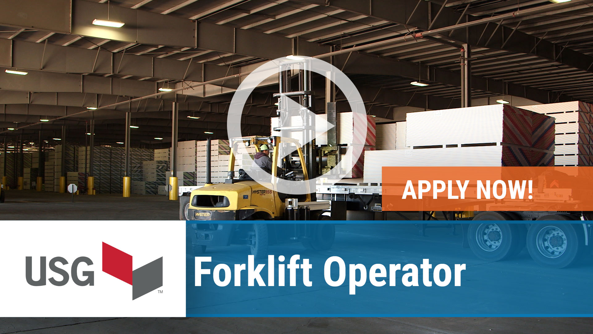 Watch our careers video for available job opening Forklift Operator in East Chicago, IN, USA