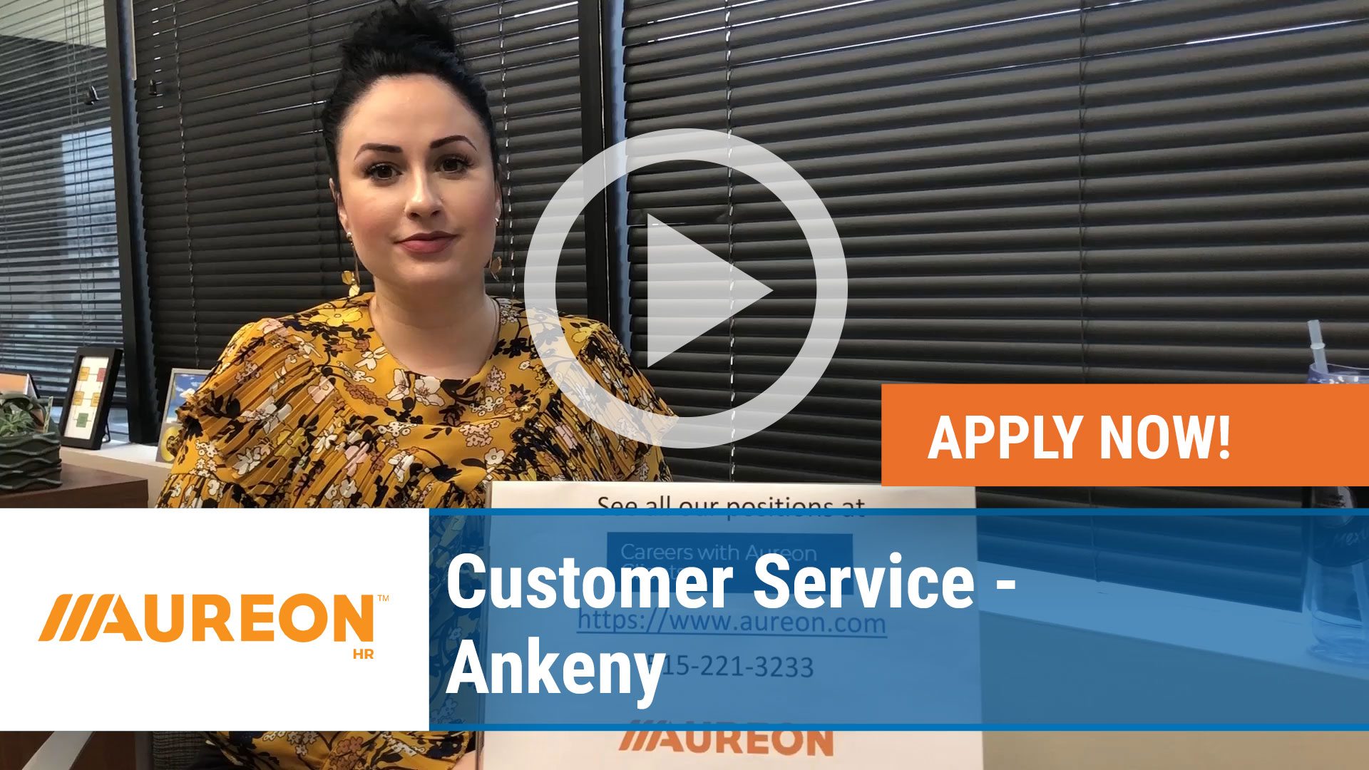 Watch our careers video for available job opening Customer Service - Ankeny in Ankeny