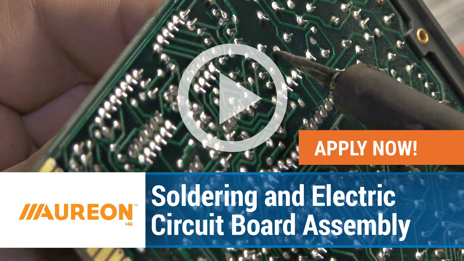 Watch our careers video for available job opening Soldering and Electric Circuit Board Assembly in Urbandale