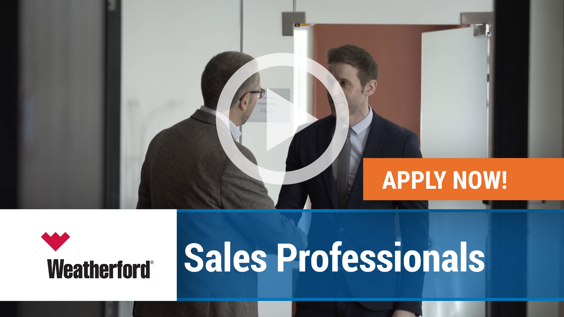 Watch our careers video for available job opening Weatherford Sales Professionals in Houston, TX, USA