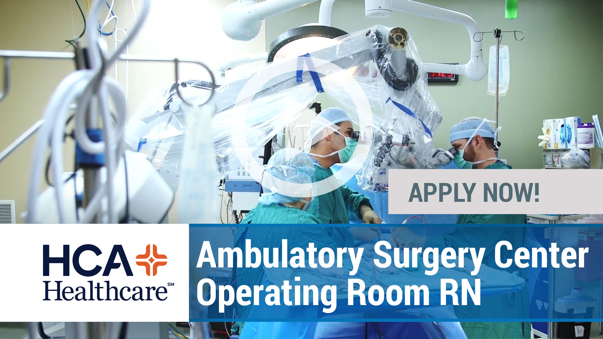 Watch our careers video for available job opening Ambulatory Surgery Center Operating Room RN in Marietta, Georgia