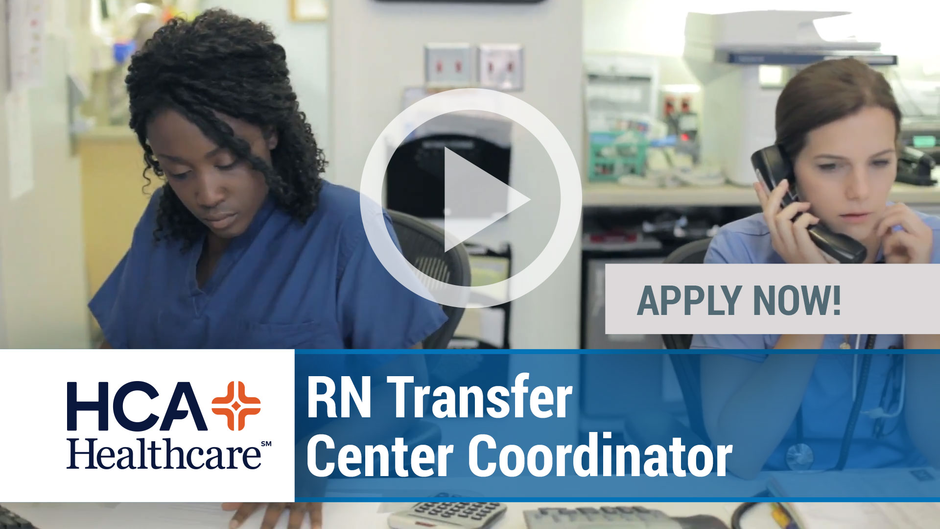 Watch our careers video for available job opening RN Transfer Center Coordinator in Multiple Locations